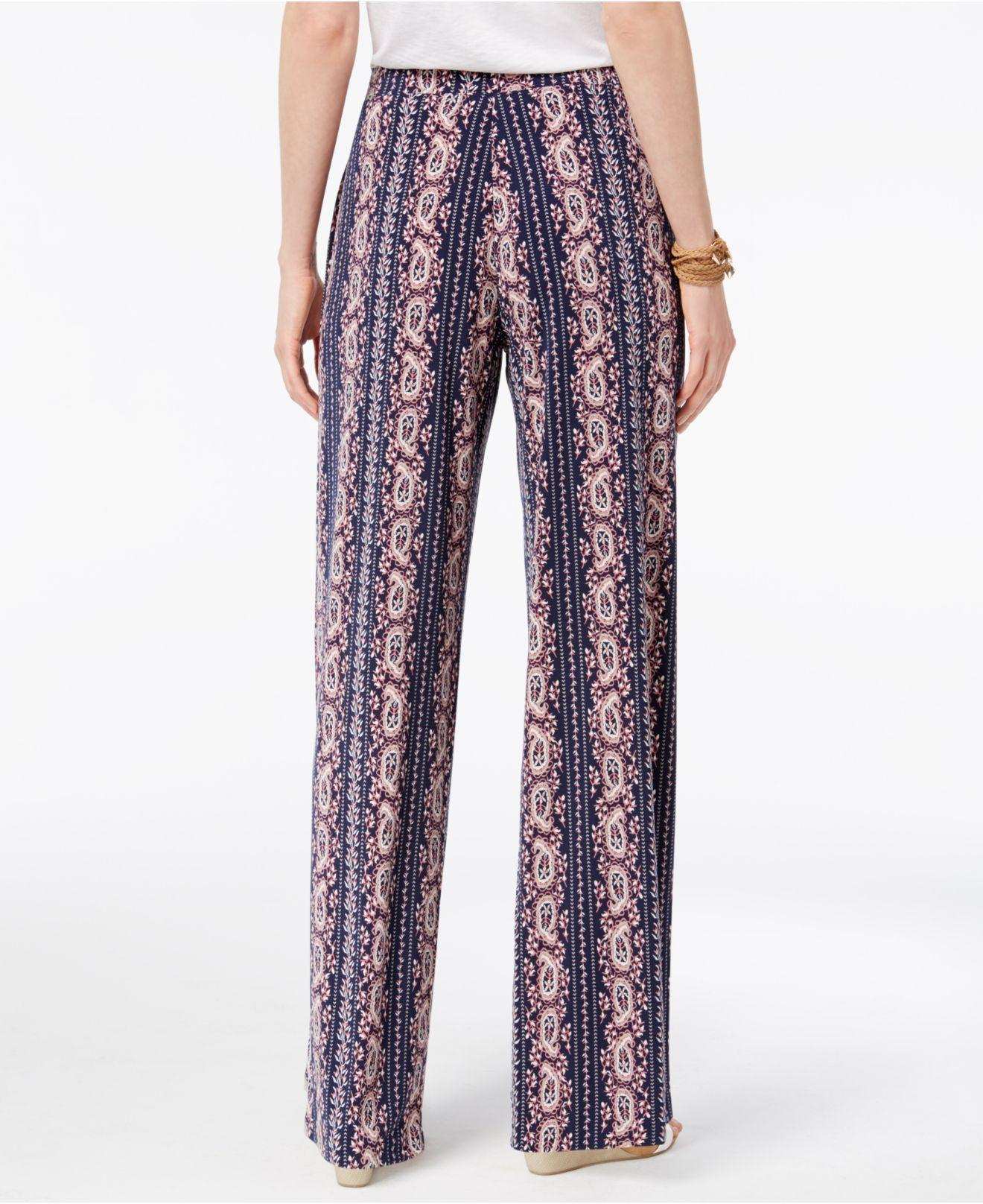 Lyst Style Co Printed Wide Leg Pants In Red