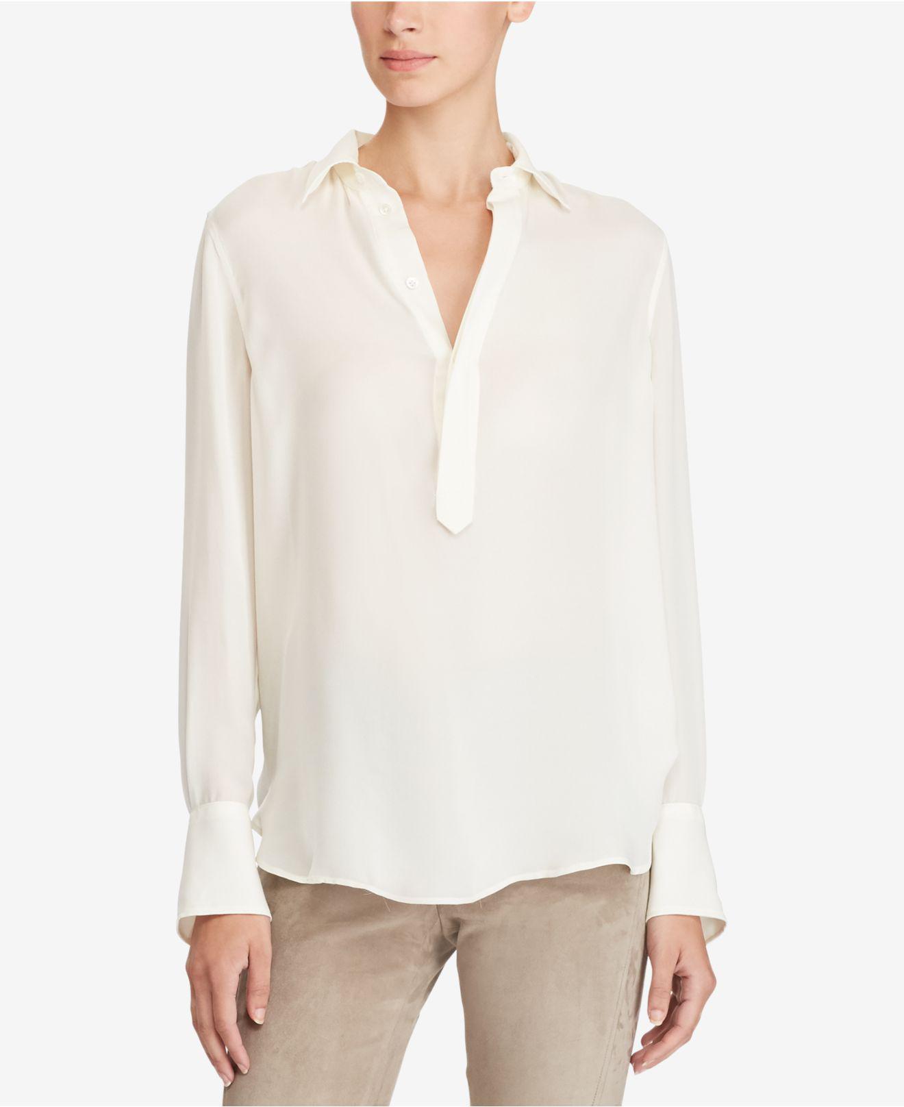 3b94c1075a Polo Ralph Lauren Multicolor Silk Georgette Blouse