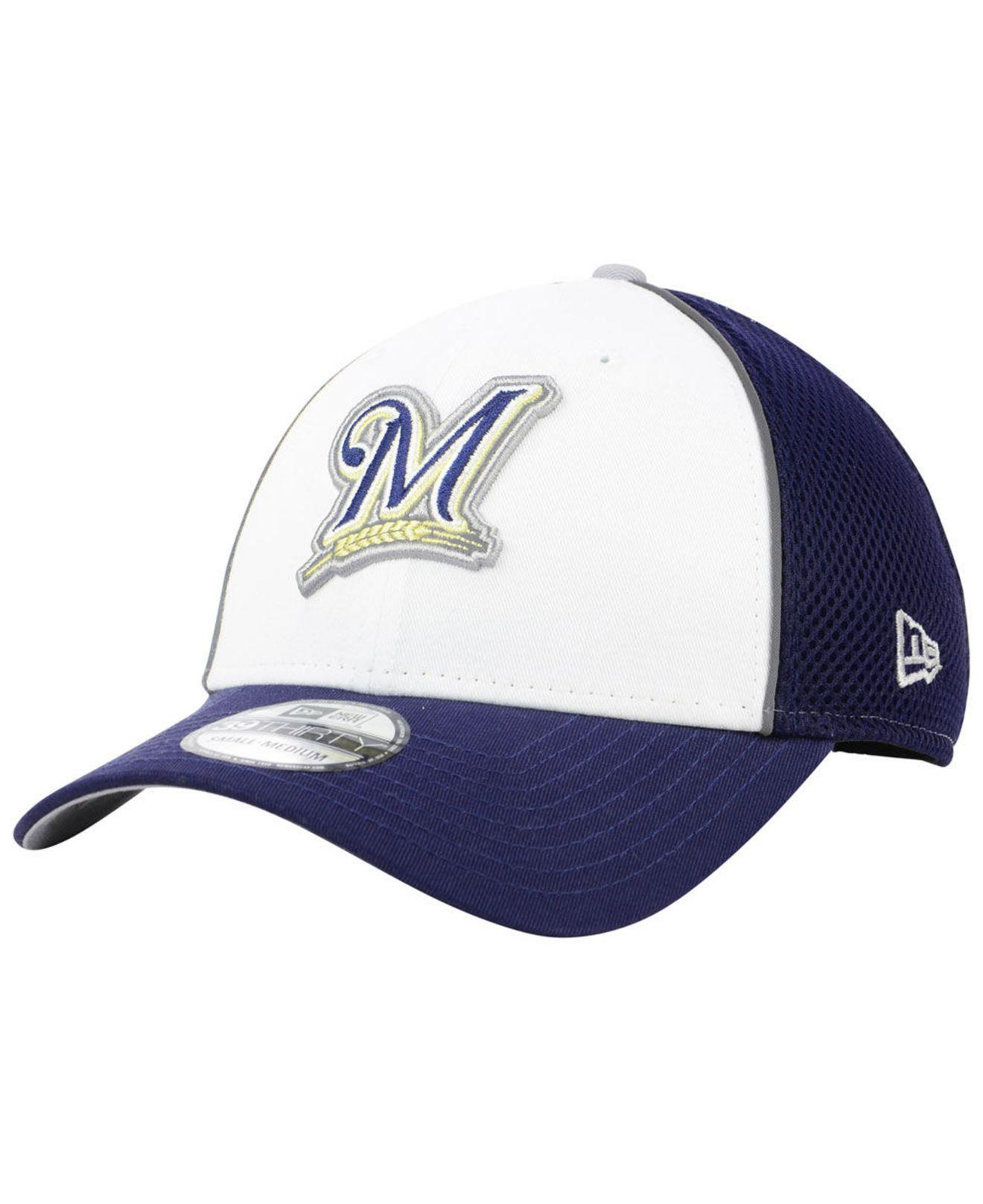 brand new e1a44 dd317 KTZ. Men s Blue Milwaukee Brewers Pop Reflective 39thirty Cap