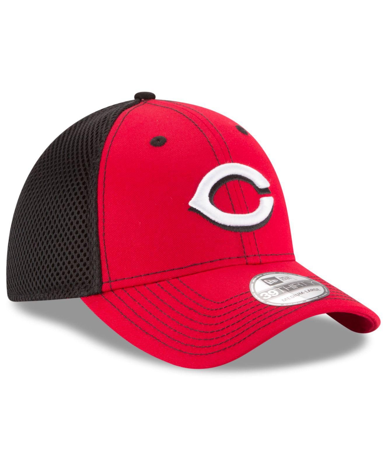 new styles 8fafe 09c90 ... closeout lyst ktz cincinnati reds team front neo 39thirty cap in black  for men 765d5 b2160