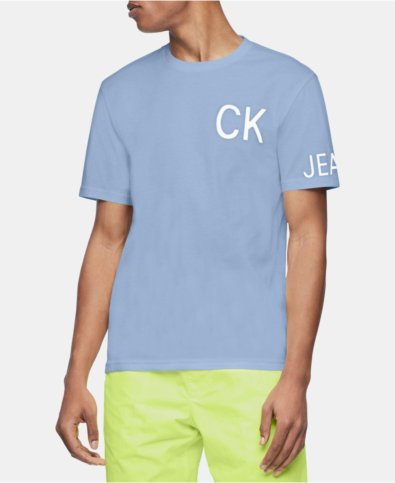 bcdd7a82e55a Calvin Klein Hero Logo Graphic T-shirt in Blue for Men - Lyst