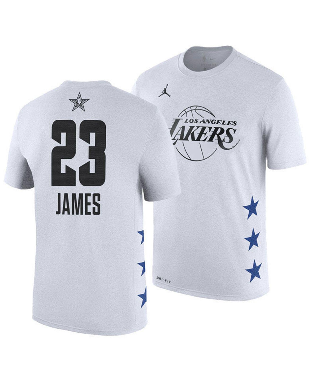 11b917ca98a Nike Lebron James Los Angeles Lakers All-star Player T-shirt in ...
