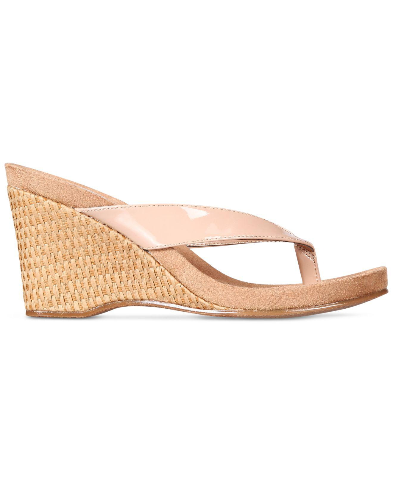 a62f23e536c Style   Co. Chicklet Wedge Sandals in Natural - Save 41% - Lyst