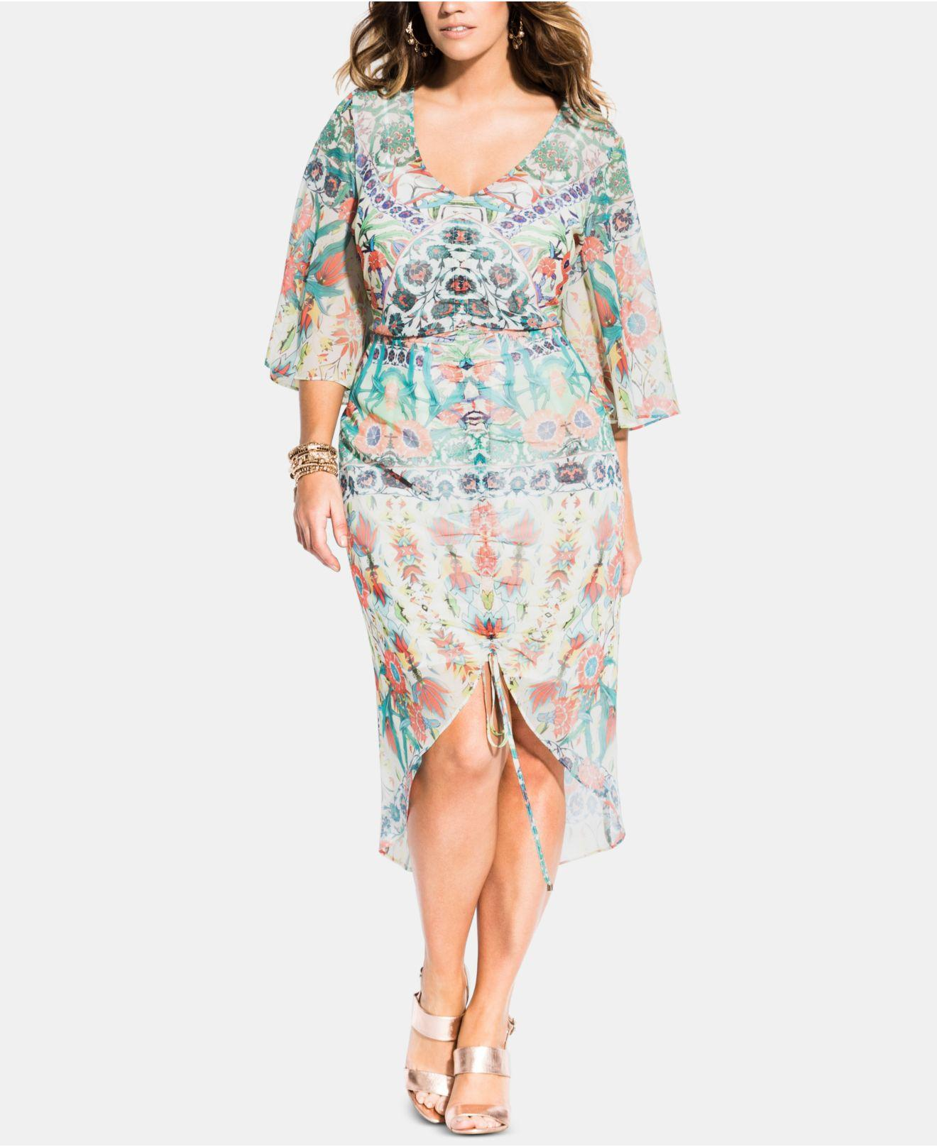 Trendy Plus Size Budapest Ruched Dress