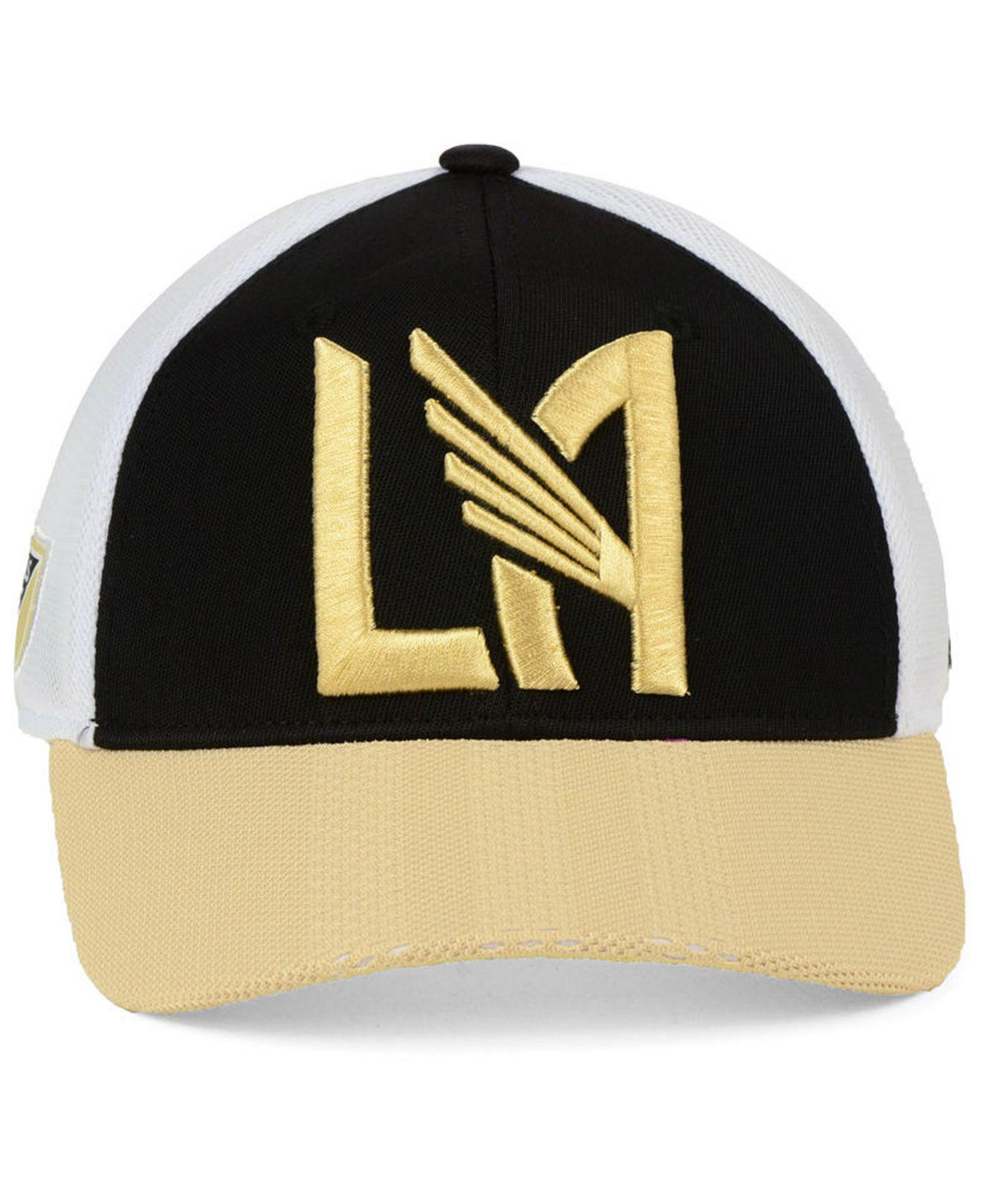 hot sale online bb3b7 60b91 ... purchase lyst adidas los angeles football club authentic mesh  adjustable cap in black for men 87c37
