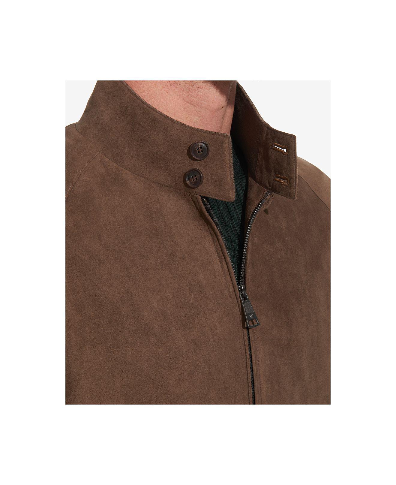 160829a91 Weatherproof Faux-suede Full-zip Bomber Jacket in Brown for Men - Lyst