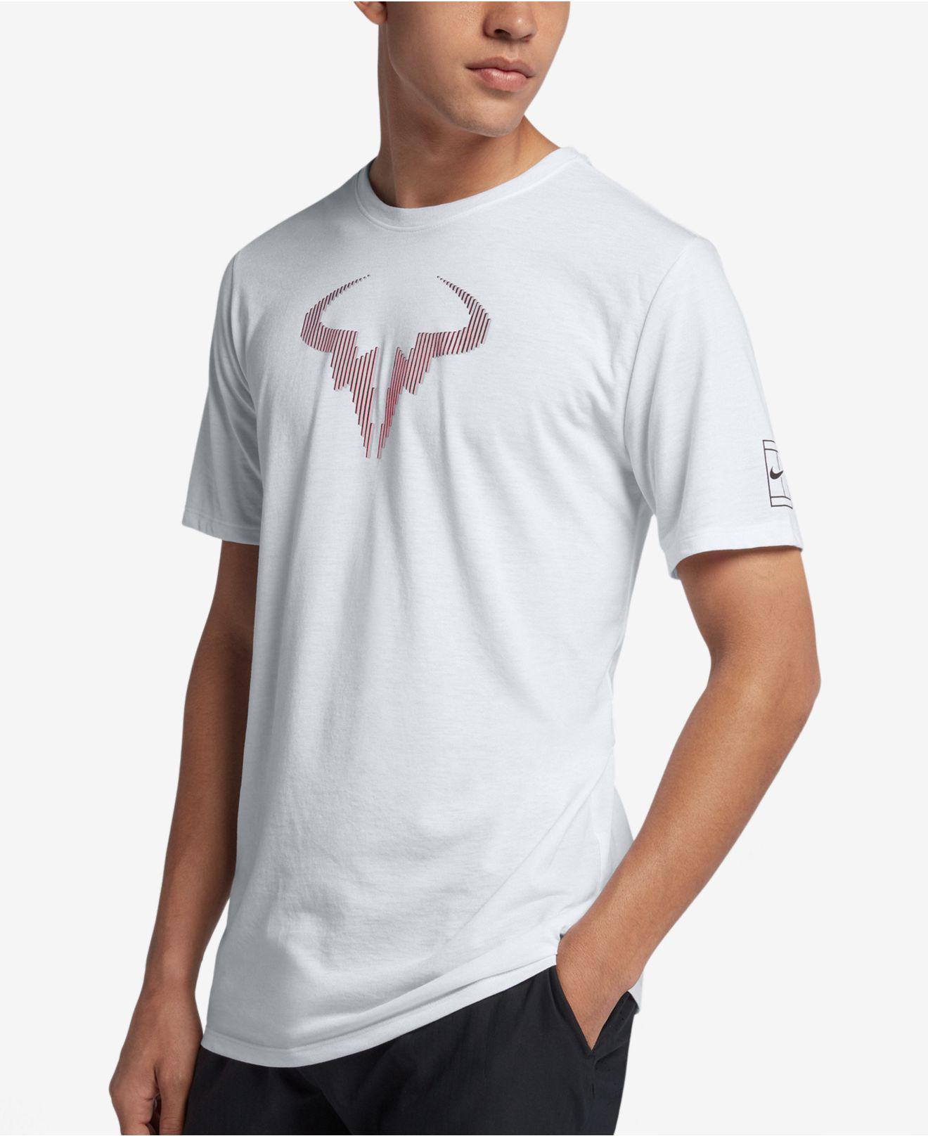 T In Lyst Shirt Rafa White Court For Nike Tennis Dry Men qwx4Xq0r