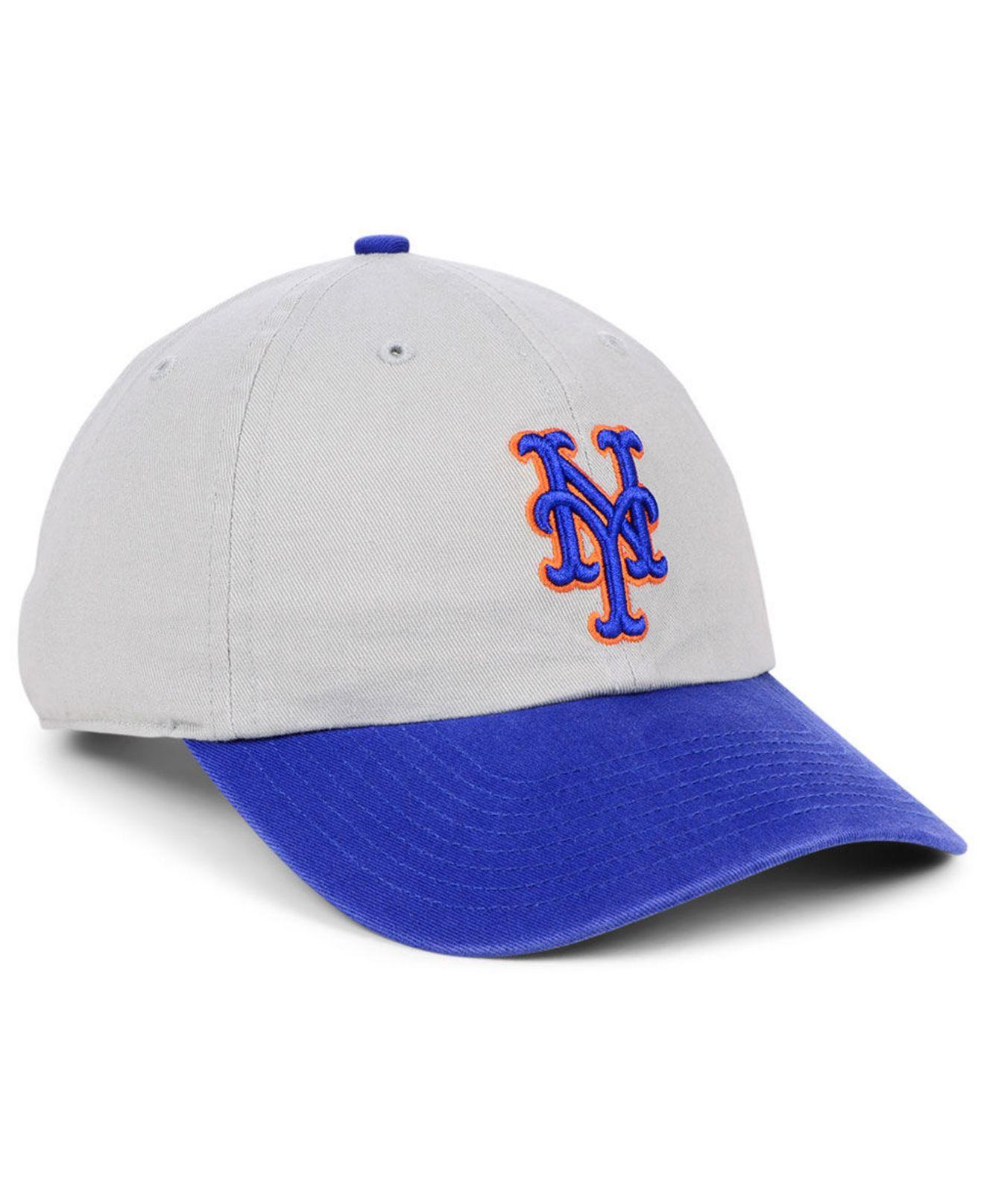 promo code d20cc 0410a Lyst - 47 Brand New York Mets Gray 2-tone Clean Up Cap in Gray for Men