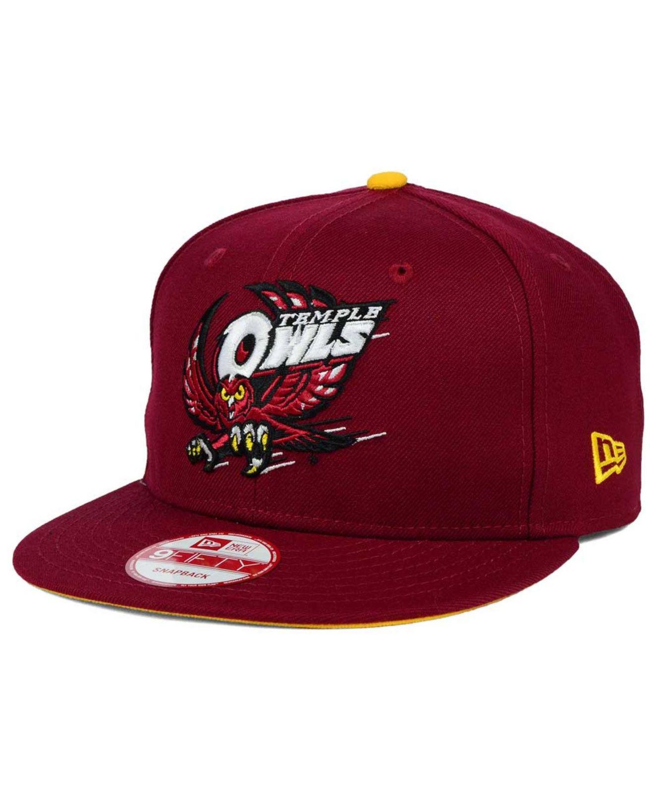release date: 7c188 739ad KTZ - Red Temple Owls Core 9fifty Snapback Cap for Men - Lyst. View  fullscreen