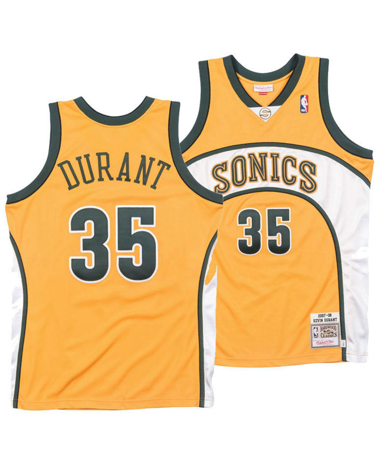 3f04115e8e8f Mitchell   Ness. Men s Metallic Kevin Durant Seattle Supersonics Authentic  Jersey