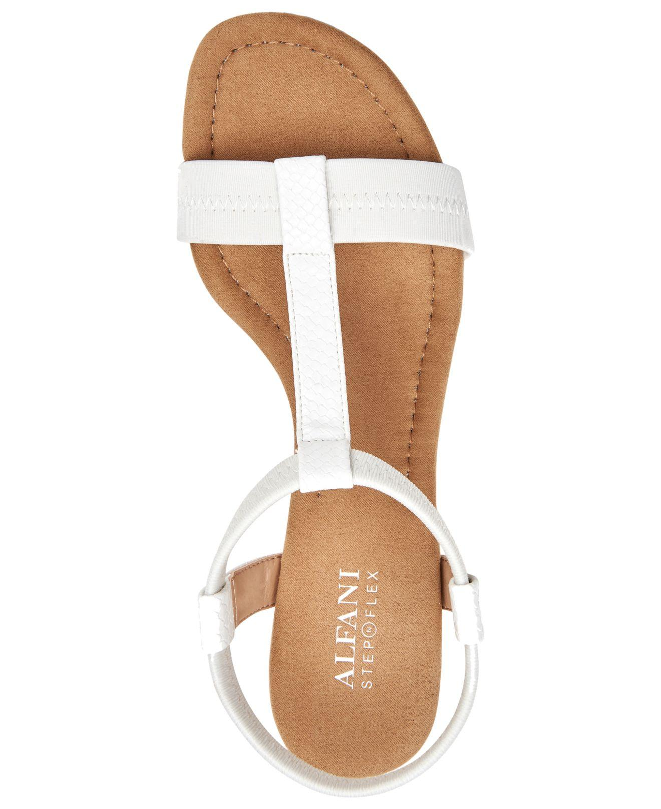 62ddcc3658f3 Lyst - Alfani Voyage Wedge Sandals in White