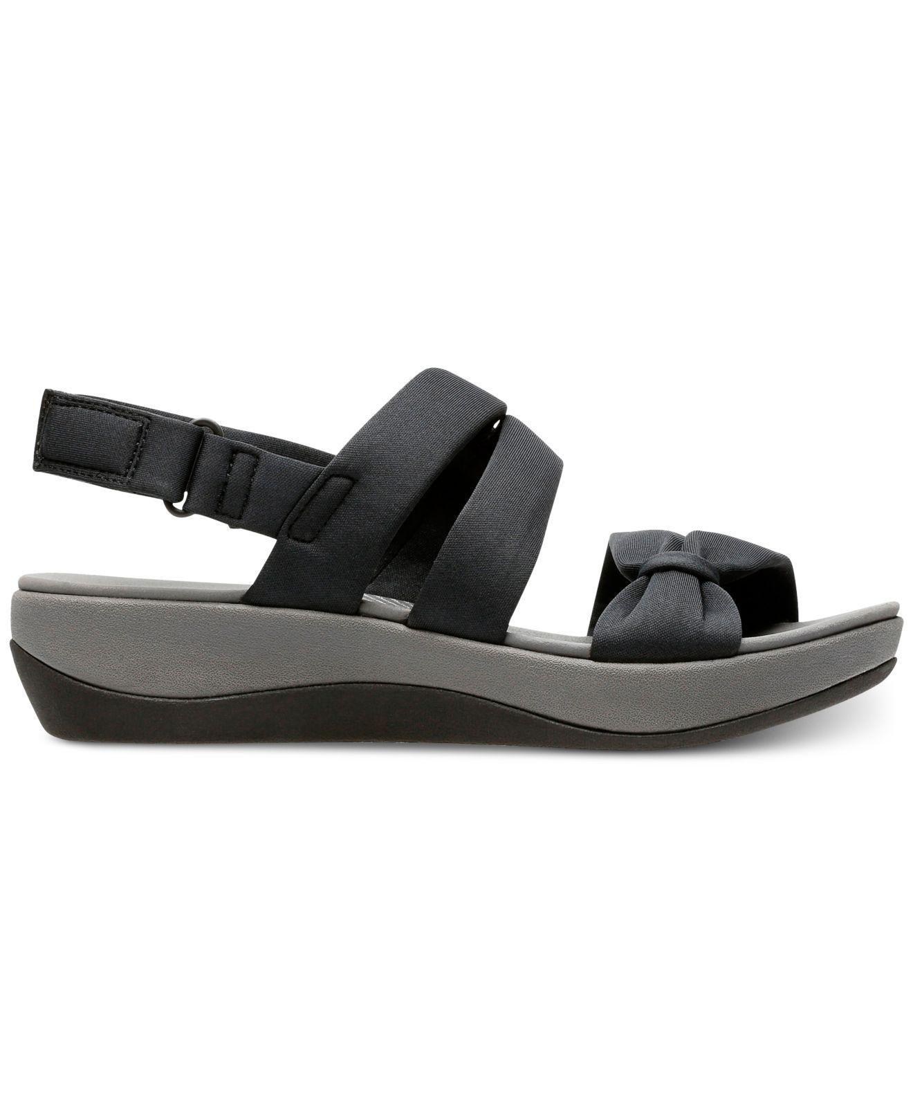 971ffb682134 Lyst - Clarks Cloudsteppers Arla Mae Wedge Sandals in Black