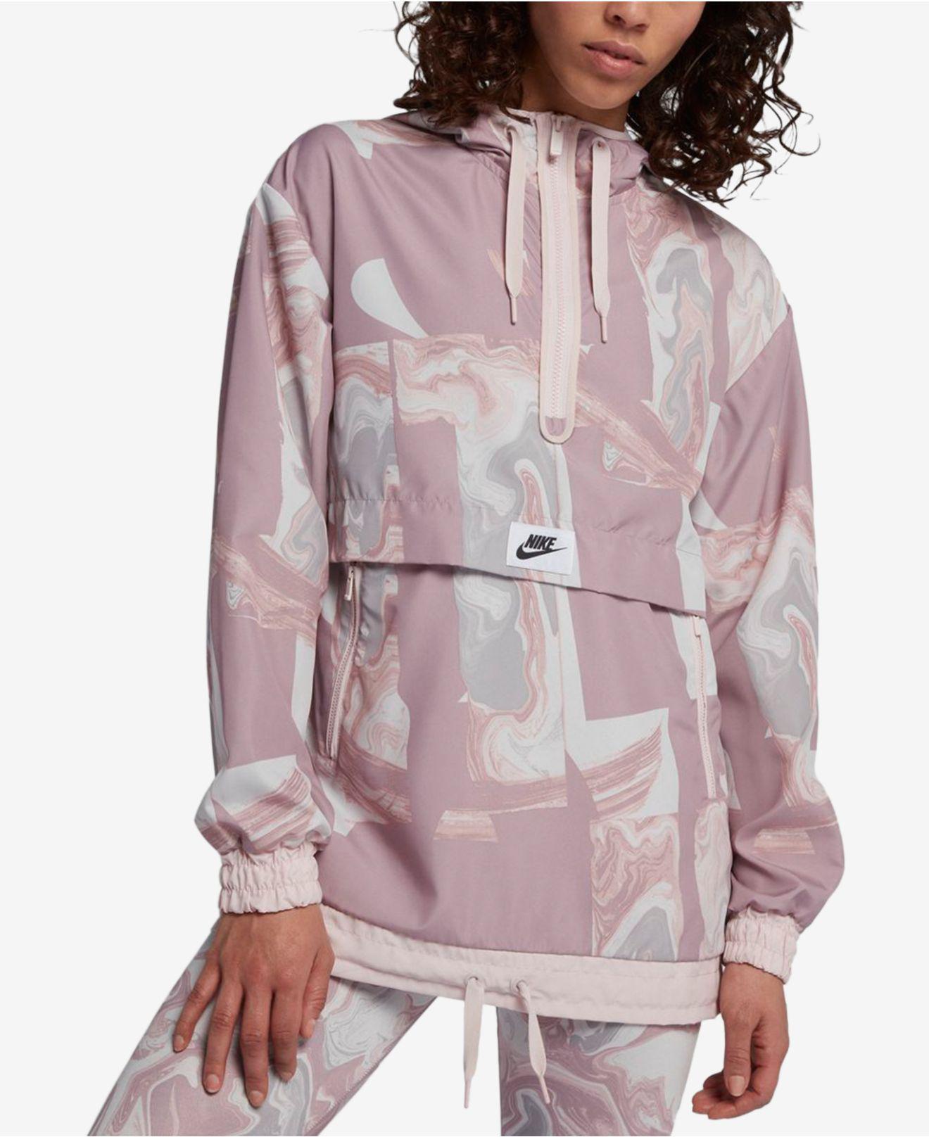 01e1ac6ee2 Lyst - Nike Sportswear Marble-print Half-zip Hooded Jacket