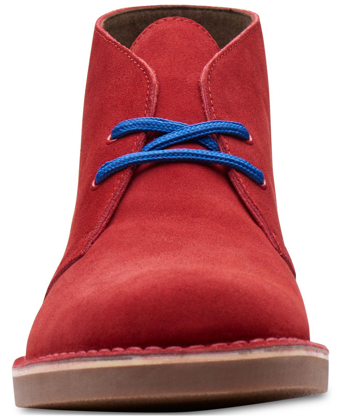Clarks Men/'s Bushacre Ca Cherry Varsity Suede Casual Chukka Shoes 26141672