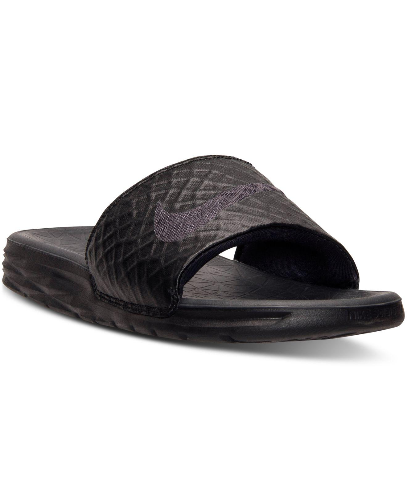Nike. Black Men's Benassi Solarsoft Slide 2 ...
