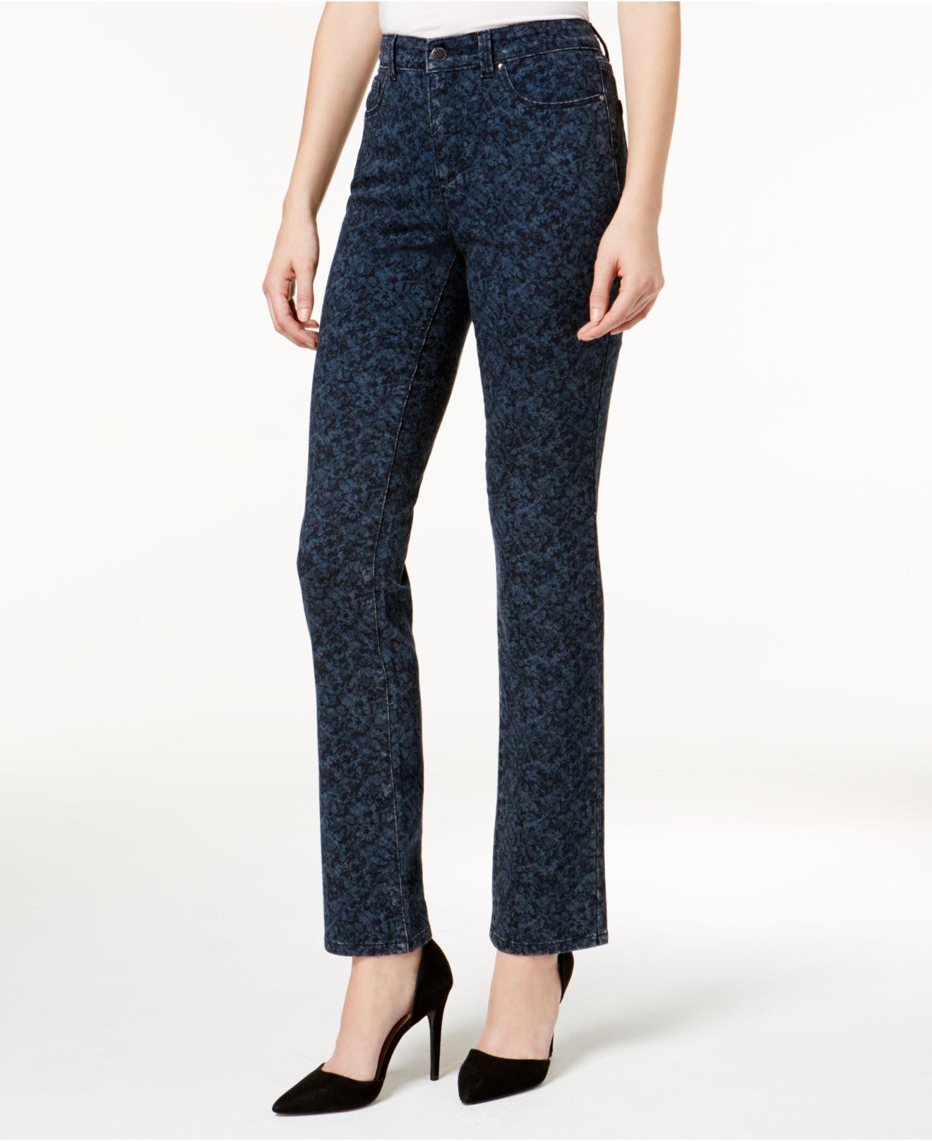 3e056893683 Lyst - Charter Club Lexington Filigree-print Straight-leg Jeans in Blue