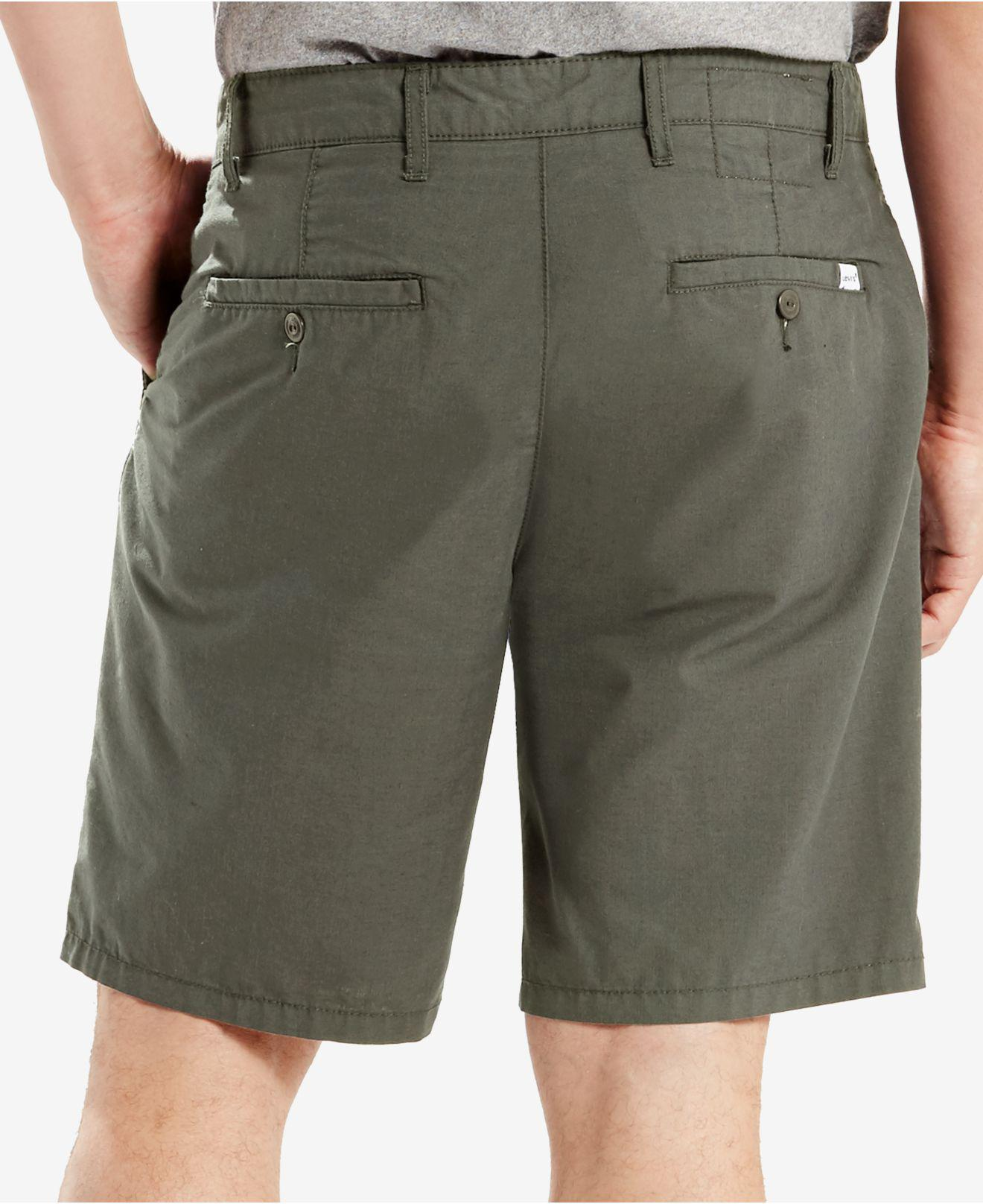 948454040e Levi's Straight-fit Chino Shorts, True Chino Wash in Green for Men ...