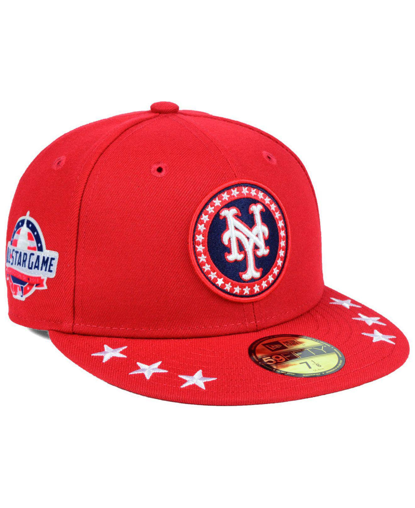 Lyst - KTZ New York Mets All Star Workout 59fifty Fitted Cap in Red ... ed22a6402