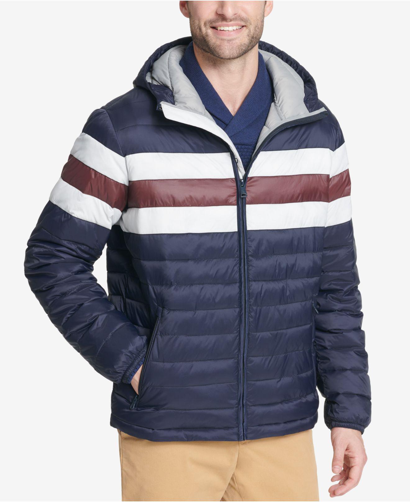 799f7540e897 Lyst - Tommy Hilfiger Color Block Hooded Ski Coat
