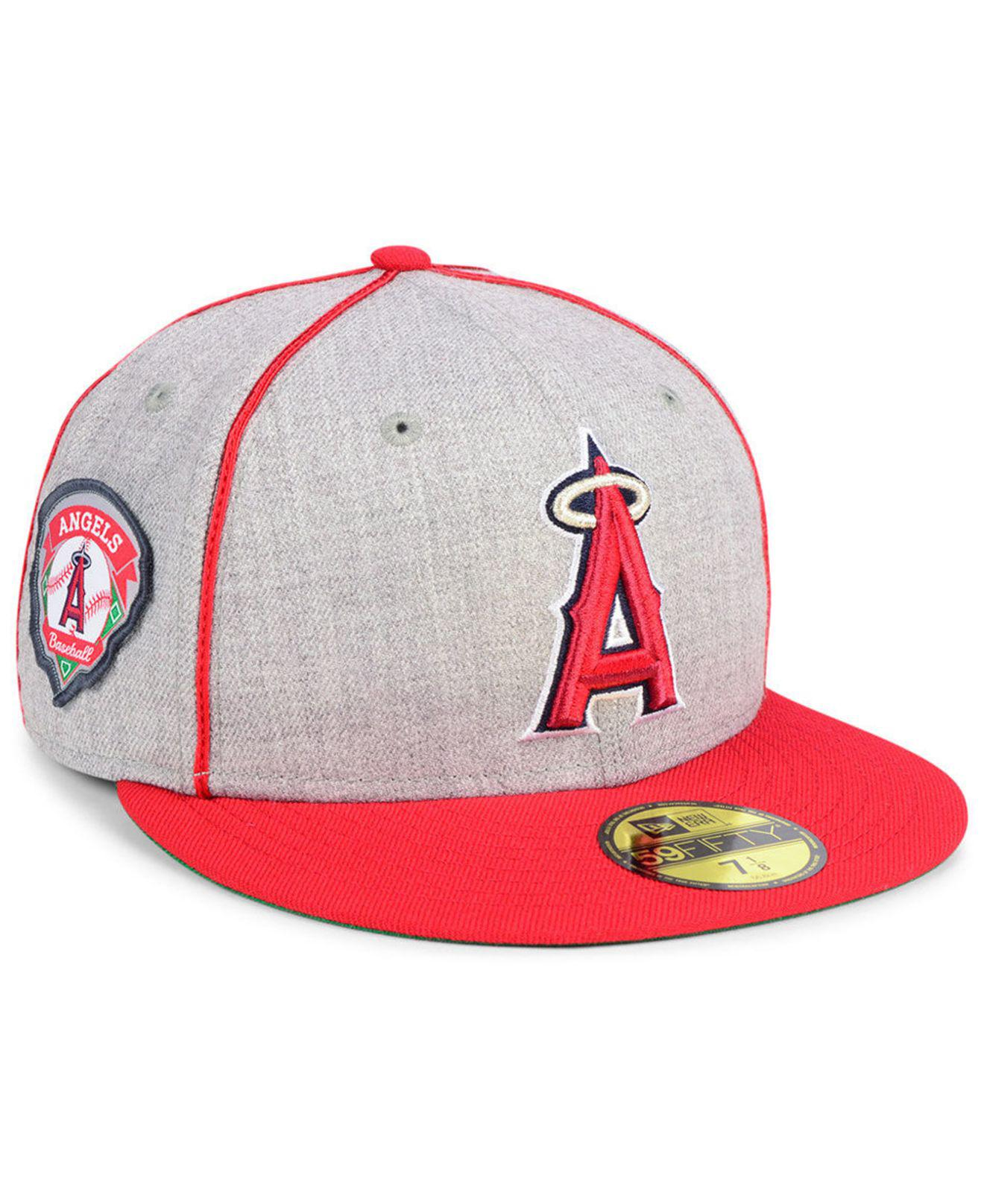 huge selection of c35f1 d69c3 KTZ - Red Los Angeles Angels Stache 59fifty Fitted Cap for Men - Lyst. View  fullscreen