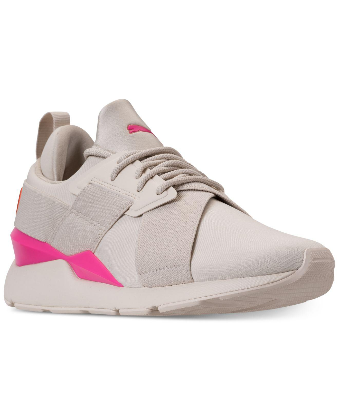 Lyst - PUMA Muse Chase Casual Sneakers From Finish Line in Pink ebf79af89