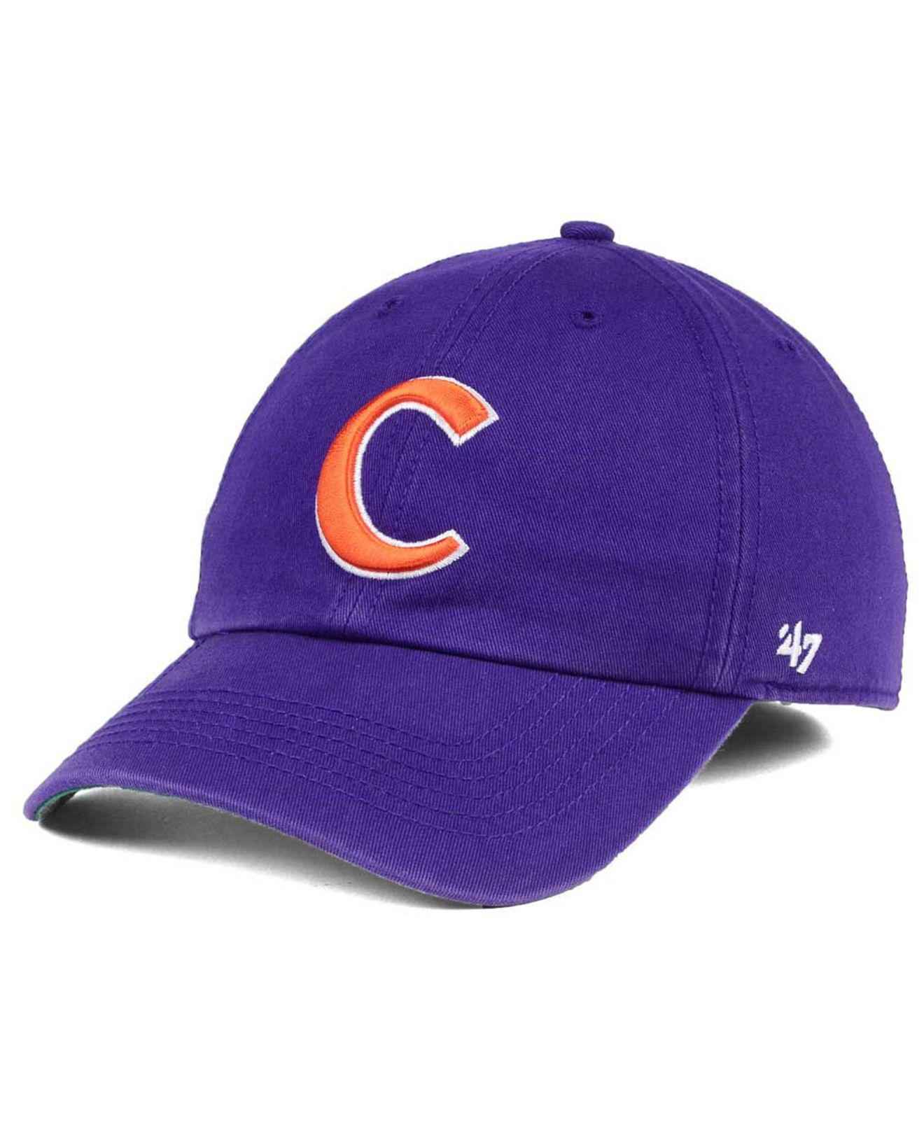 official photos 4eee2 19fb4 Lyst - 47 Brand Clemson Tigers Franchise Cap in Purple for Men
