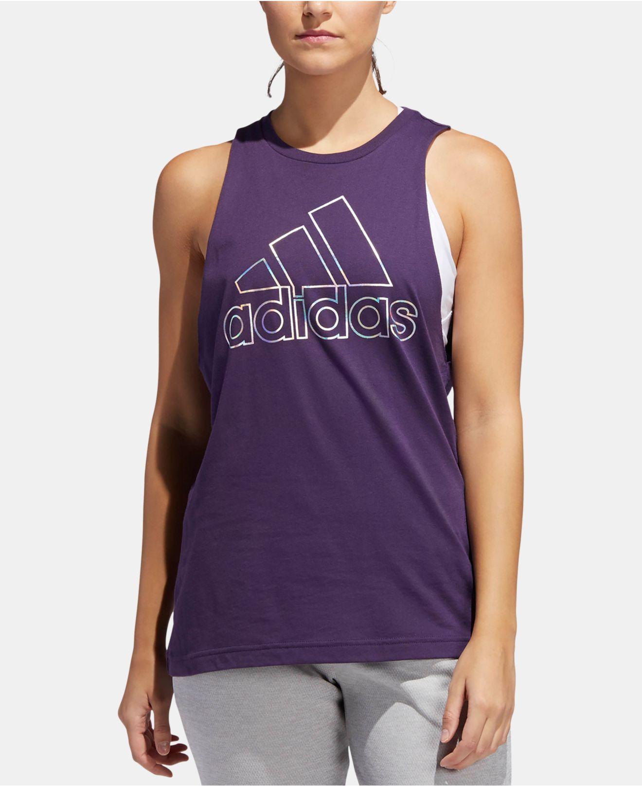 adidas Cotton Outline-logo Tank Top in