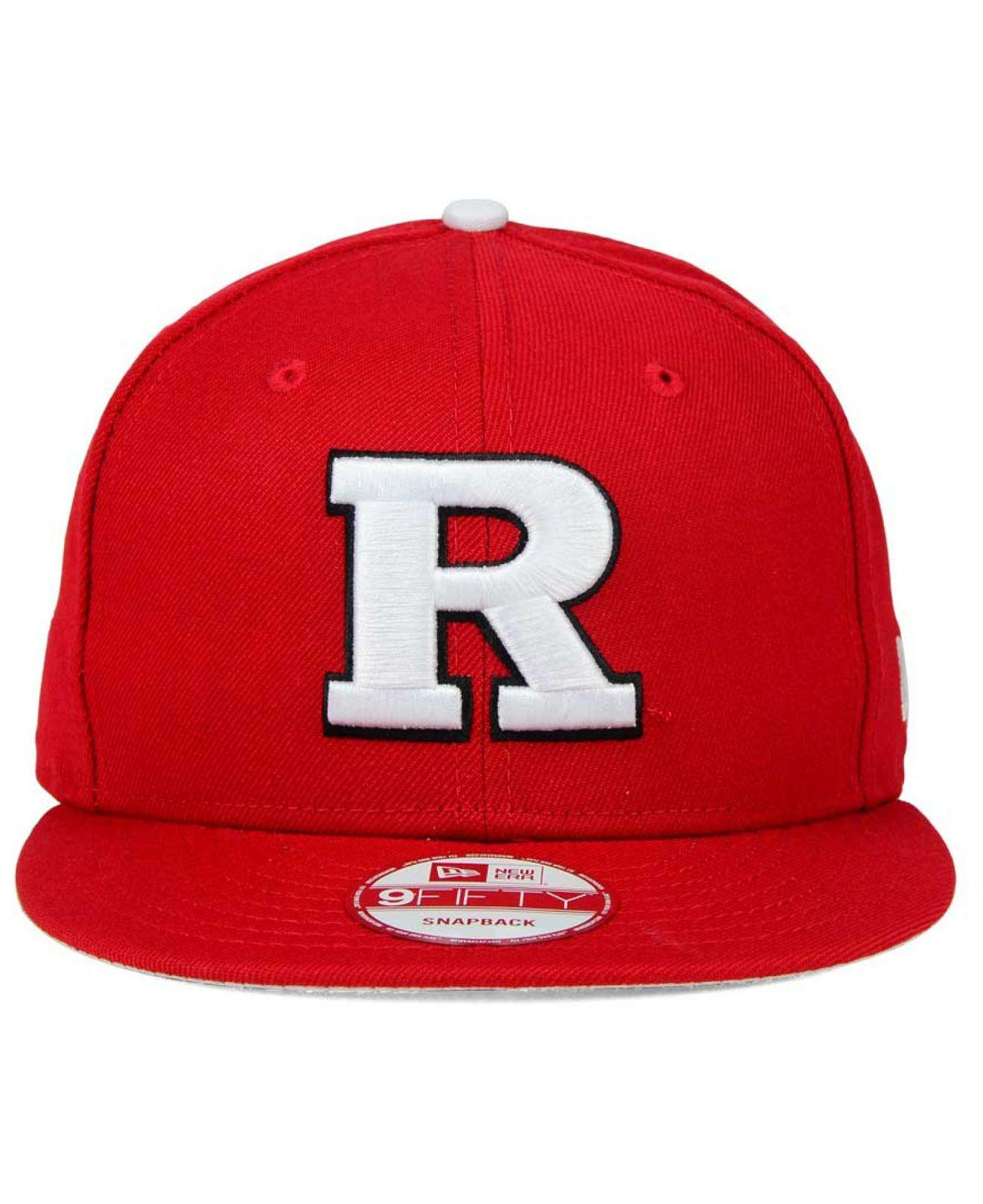 179980f0 ... order lyst ktz rutgers scarlet knights core 9fifty snapback cap in red  for men da8ab 312f0