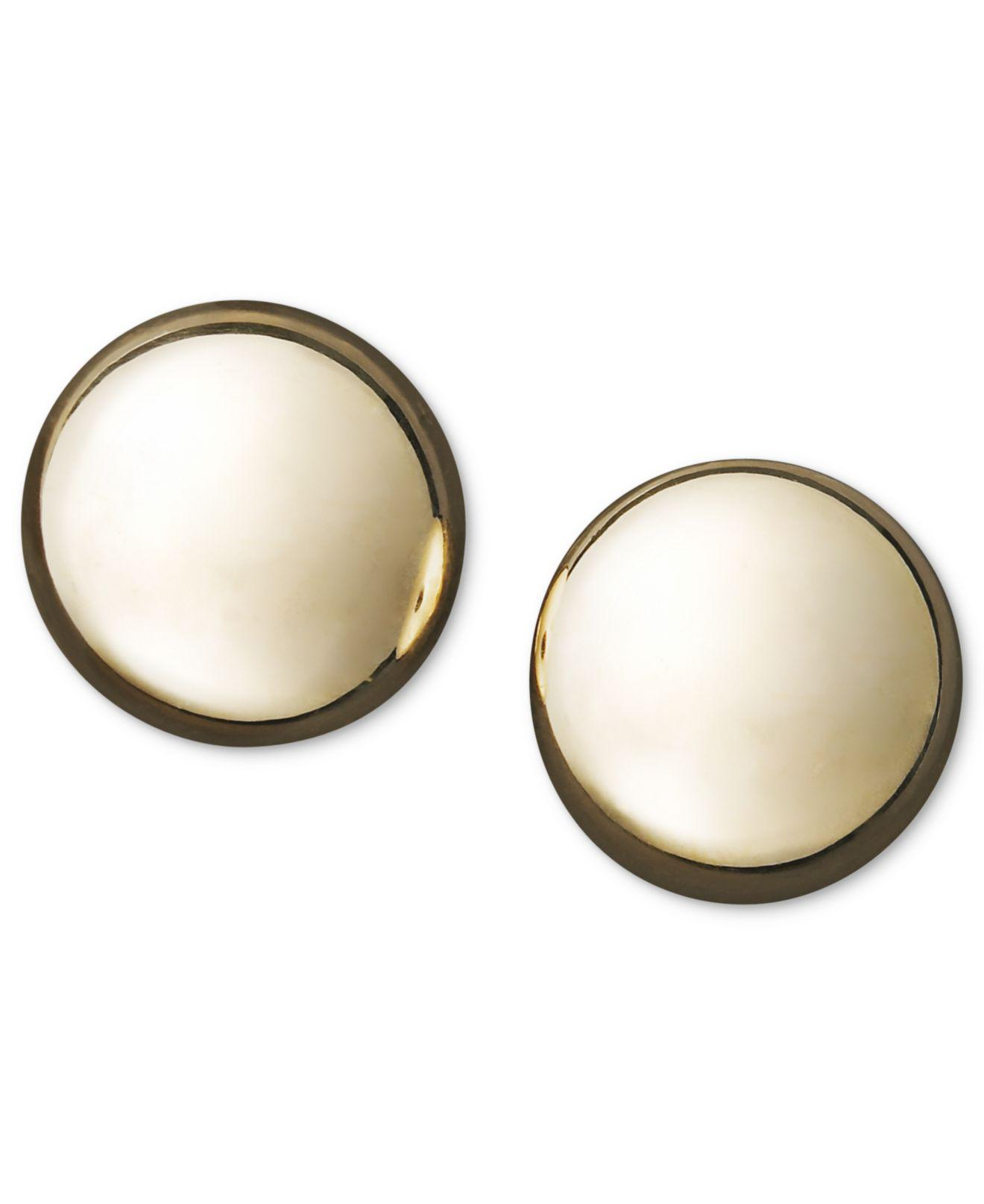 basement earring image to expand wall these stud tiny disc zoom large magnify roll description studs over gold circle flat