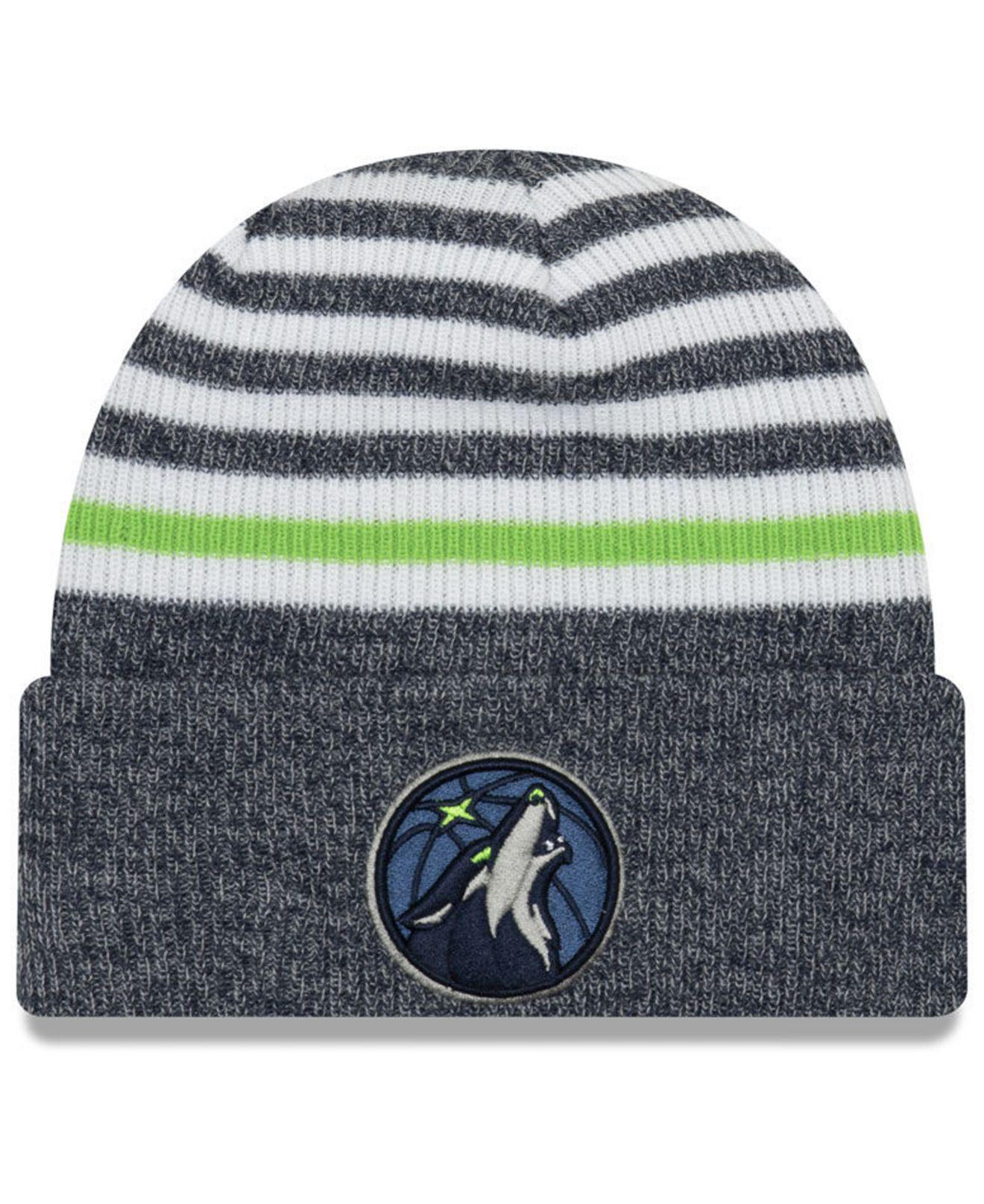 b04905055 Lyst - KTZ Minnesota Timberwolves Striped Cuff Knit Hat in Blue for Men