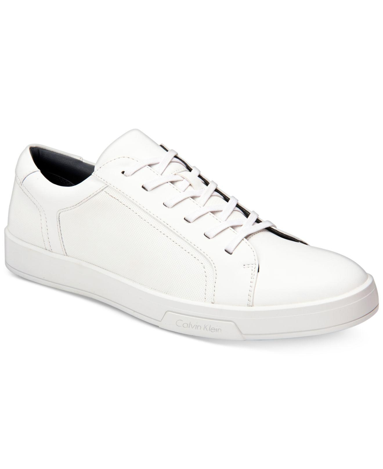 Bowyer Diamond Sneakers Calvin Klein Trainers White Shoes