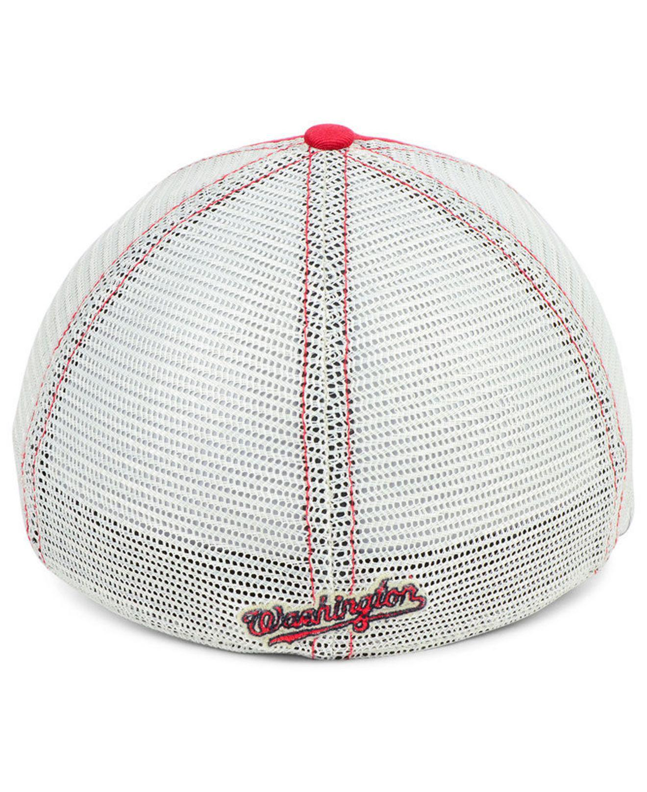 newest f3886 9c77f ... official 47 brand red washington nationals tally closer stretch fitted  cap for men lyst. view