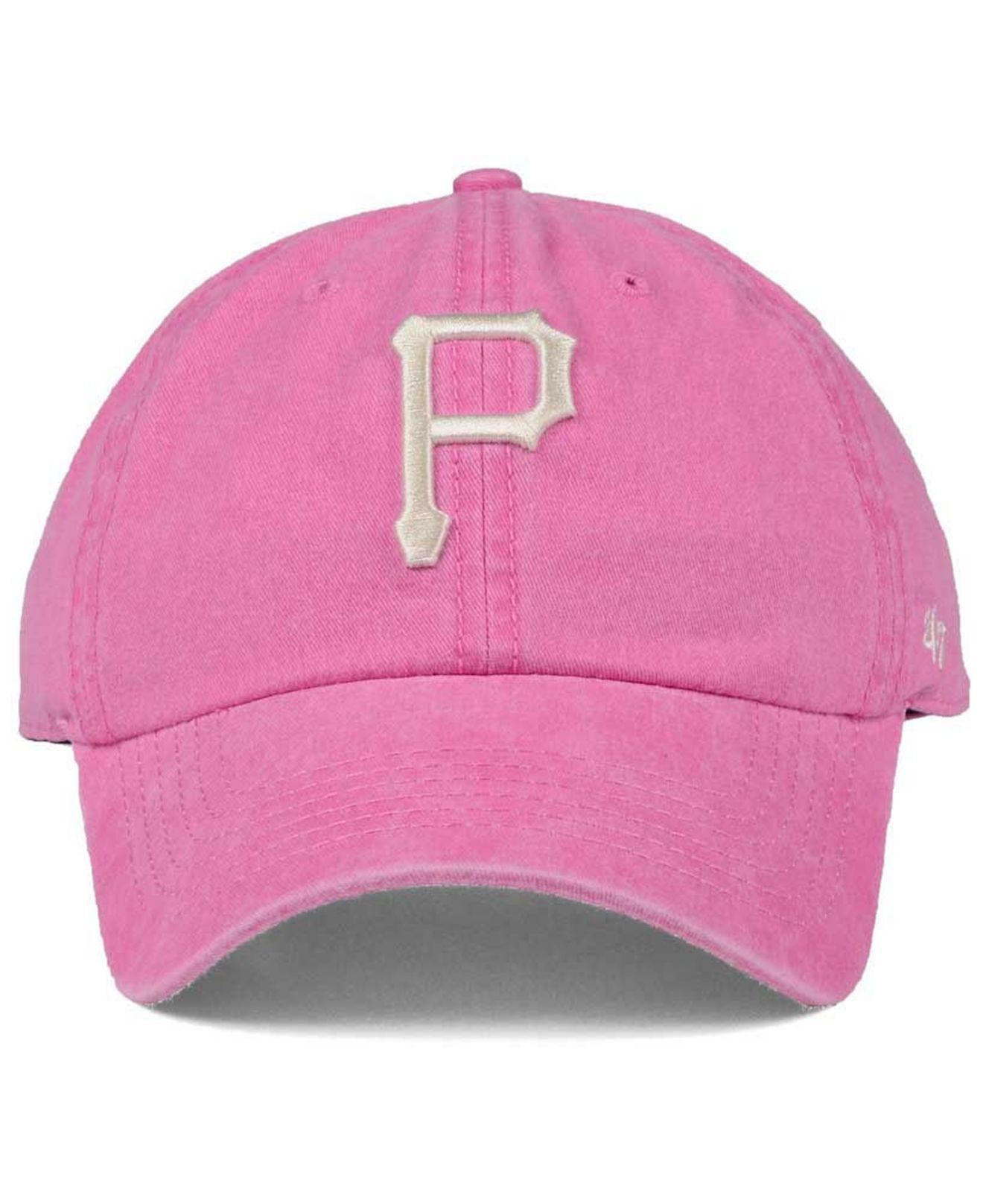 uk availability f7f0a 08d7f ... shopping 47 brand pittsburgh pirates summerland clean up cap in pink  for men lyst cfc1d 3ab6a ...