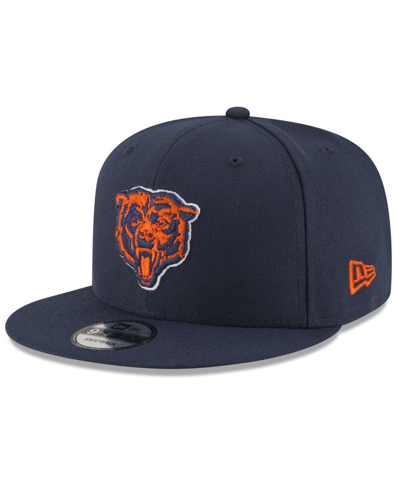 36da72291ec Lyst - Ktz Chicago Bears Basic 9fifty Snapback Cap in Blue for Men