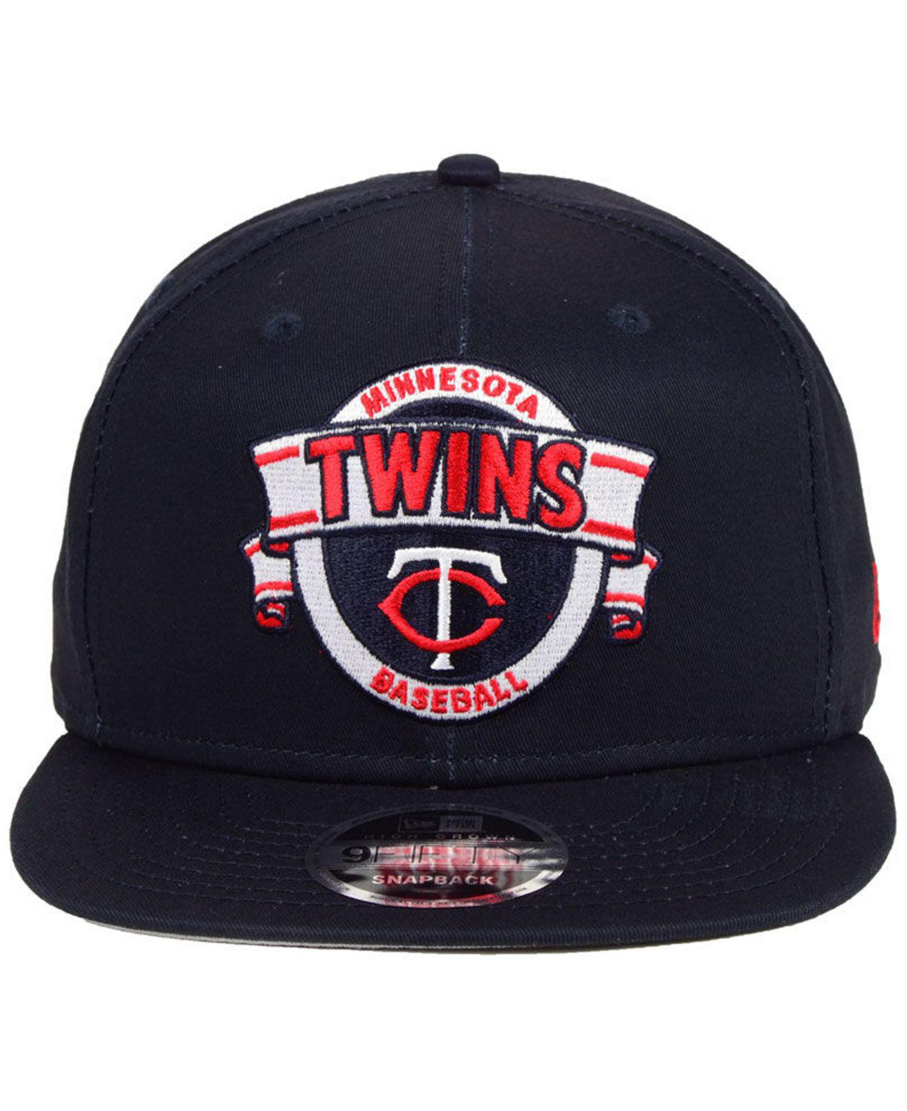 sale retailer 22e0b f77a9 Lyst - KTZ Minnesota Twins Banner 9fifty Snapback Cap in Blue for Men