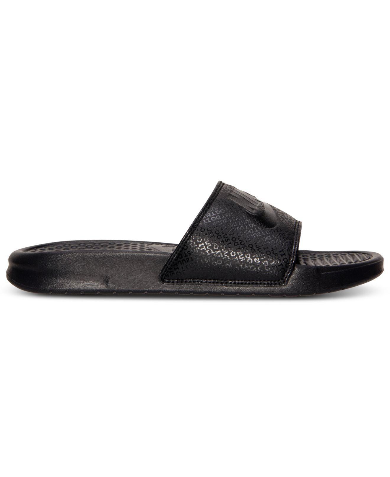 save off 028a2 8b8ee Nike Men s Benassi Jdi Slide Sandals From Finish Line in Black for Men -  Lyst