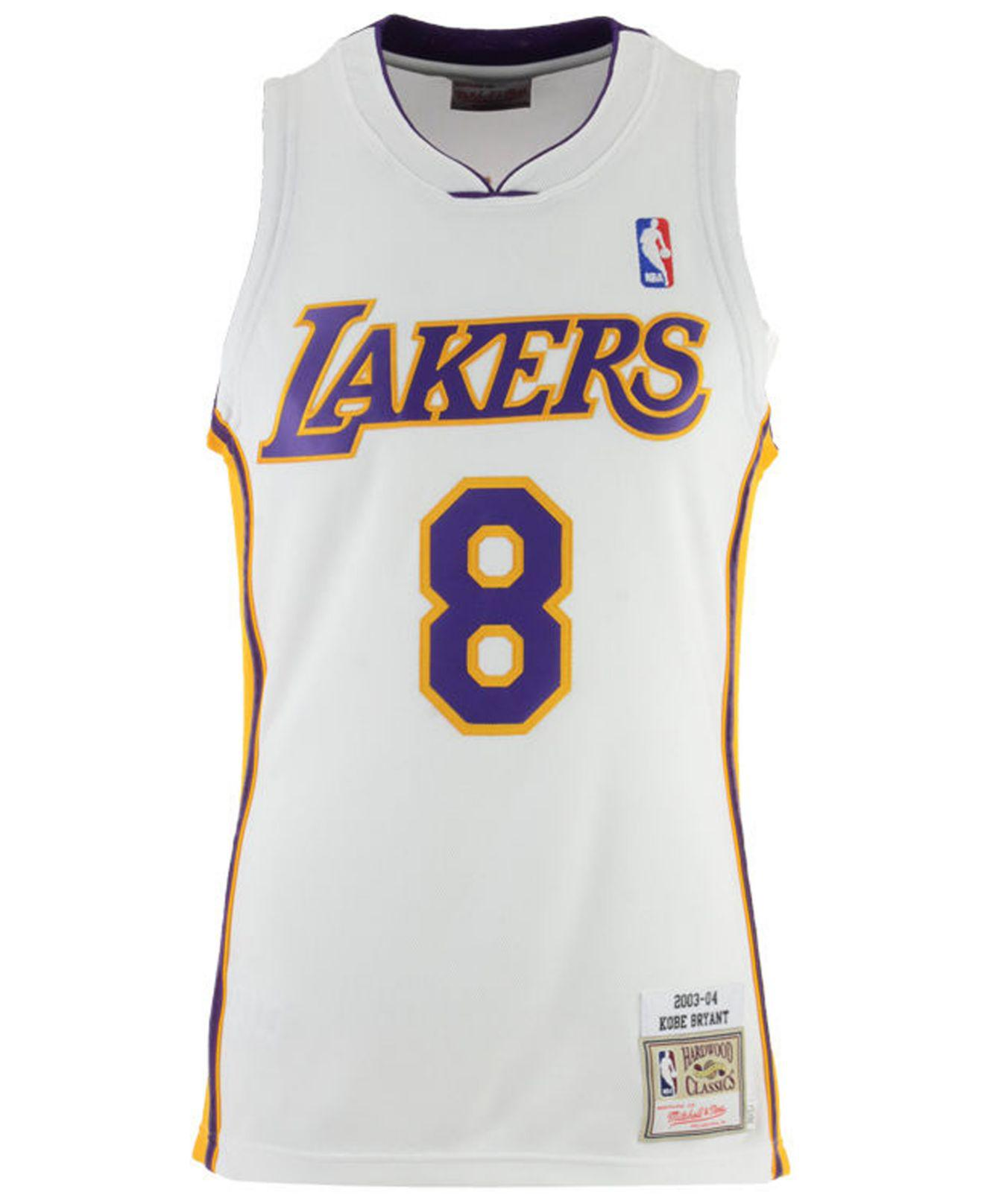 the latest b0ced 98deb Men's White Kobe Bryant Los Angeles Lakers Authentic Jersey