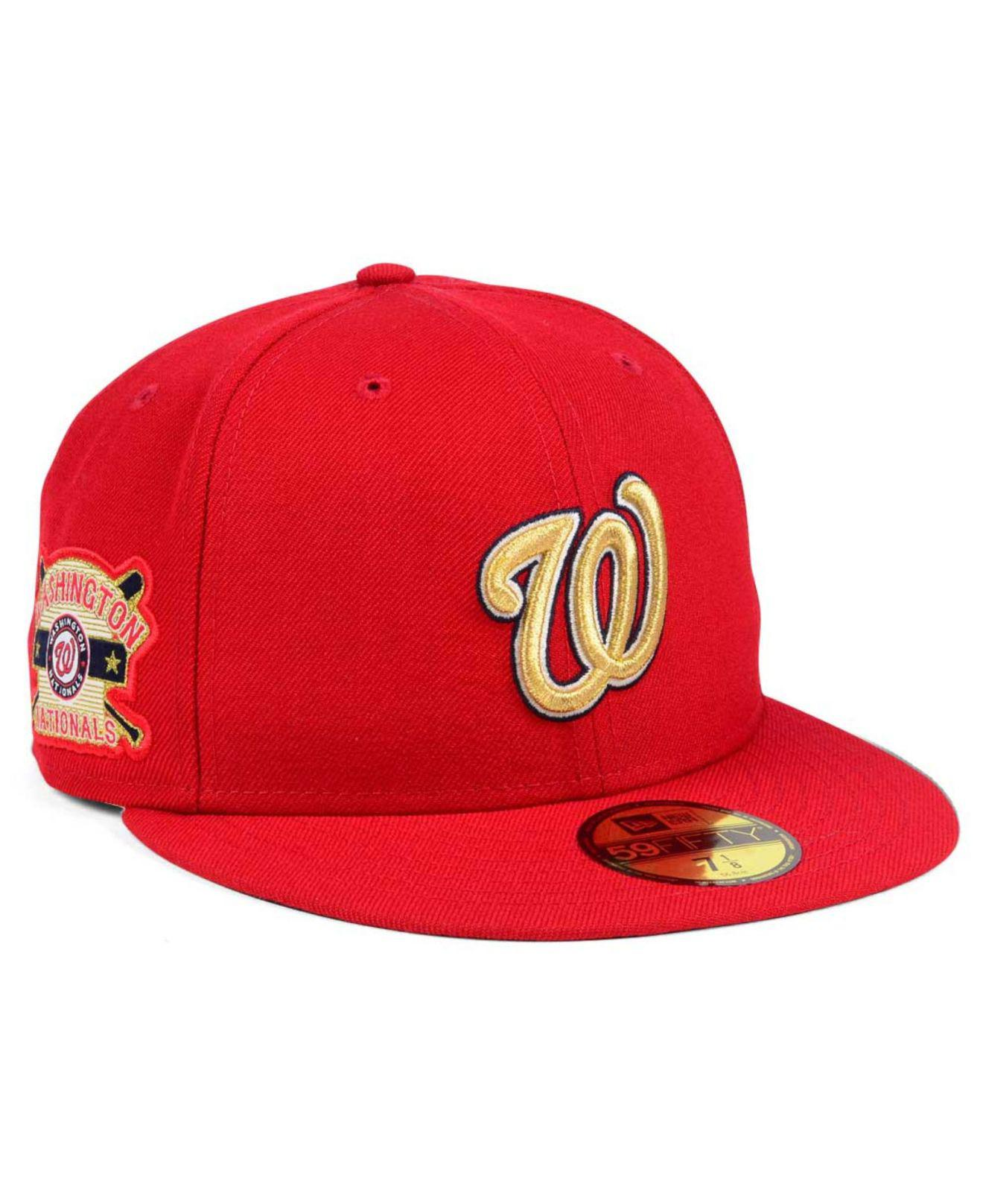 watch a425f a390d ... mlb bt 9fifty snapback cap f9289 0027f  usa lyst ktz washington  nationals exclusive gold patch 59fifty cap in 40aac a89b2