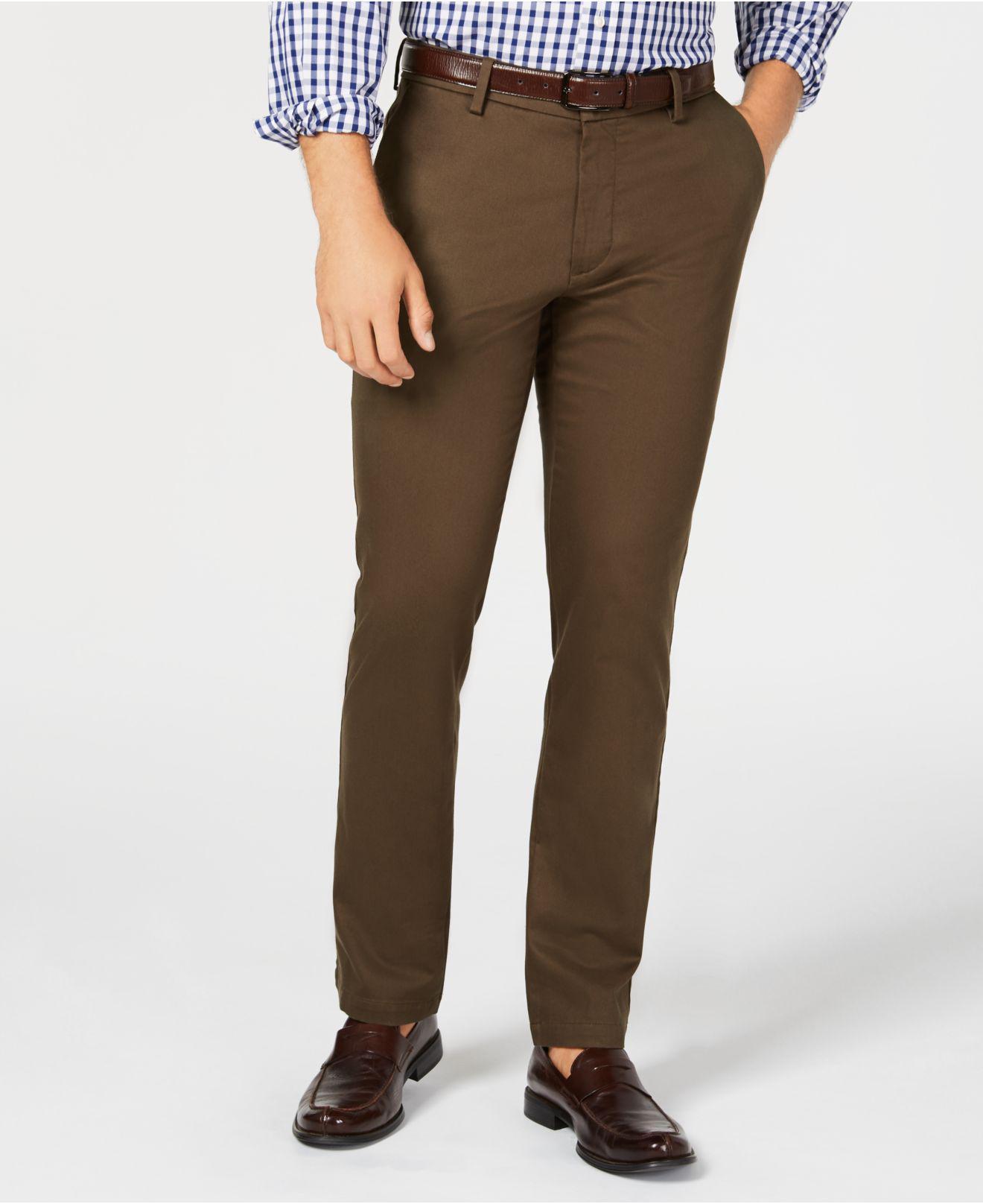 838765e286c5d3 Lyst - Dockers Signature Lux Cotton Slim Fit Stretch Khaki Pants in ...