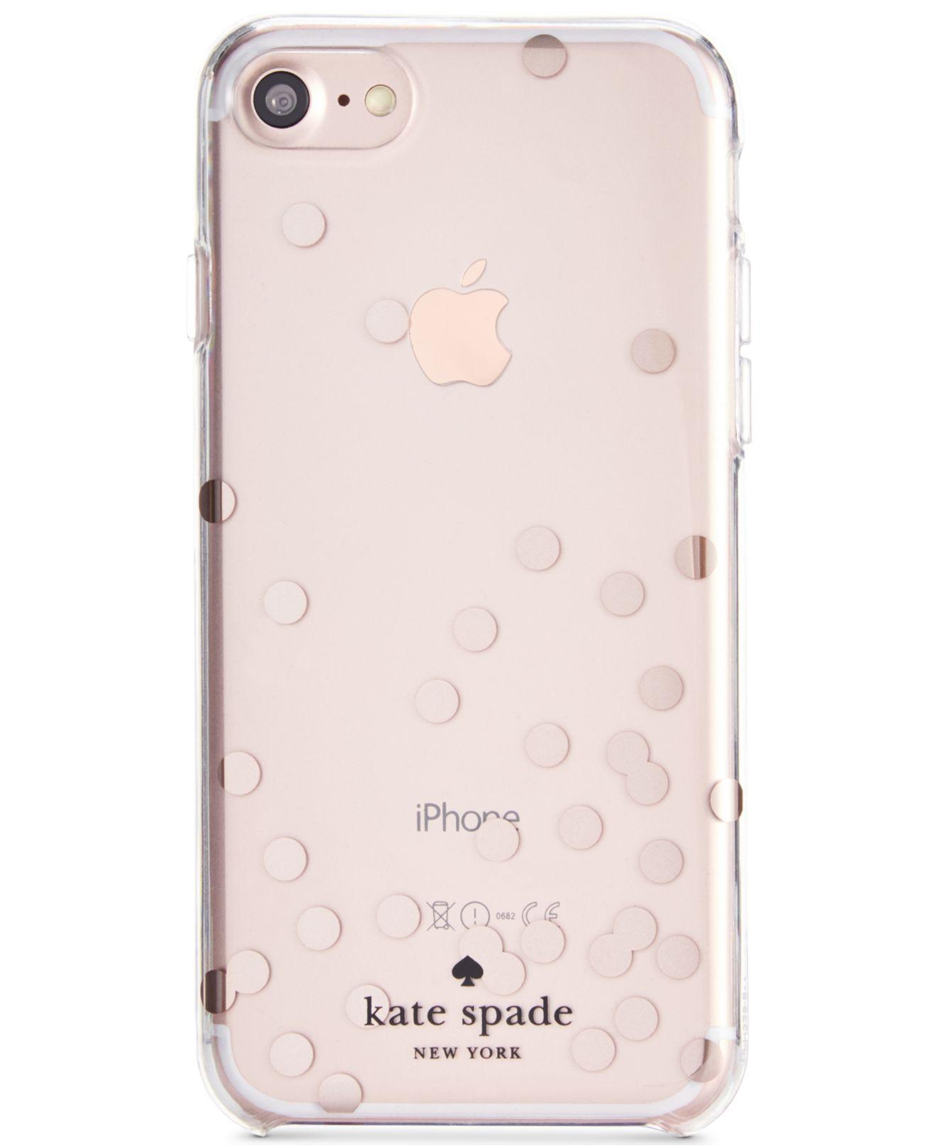 Kate Spade - Pink Confetti Foil Iphone 8 Case - Lyst. View Fullscreen