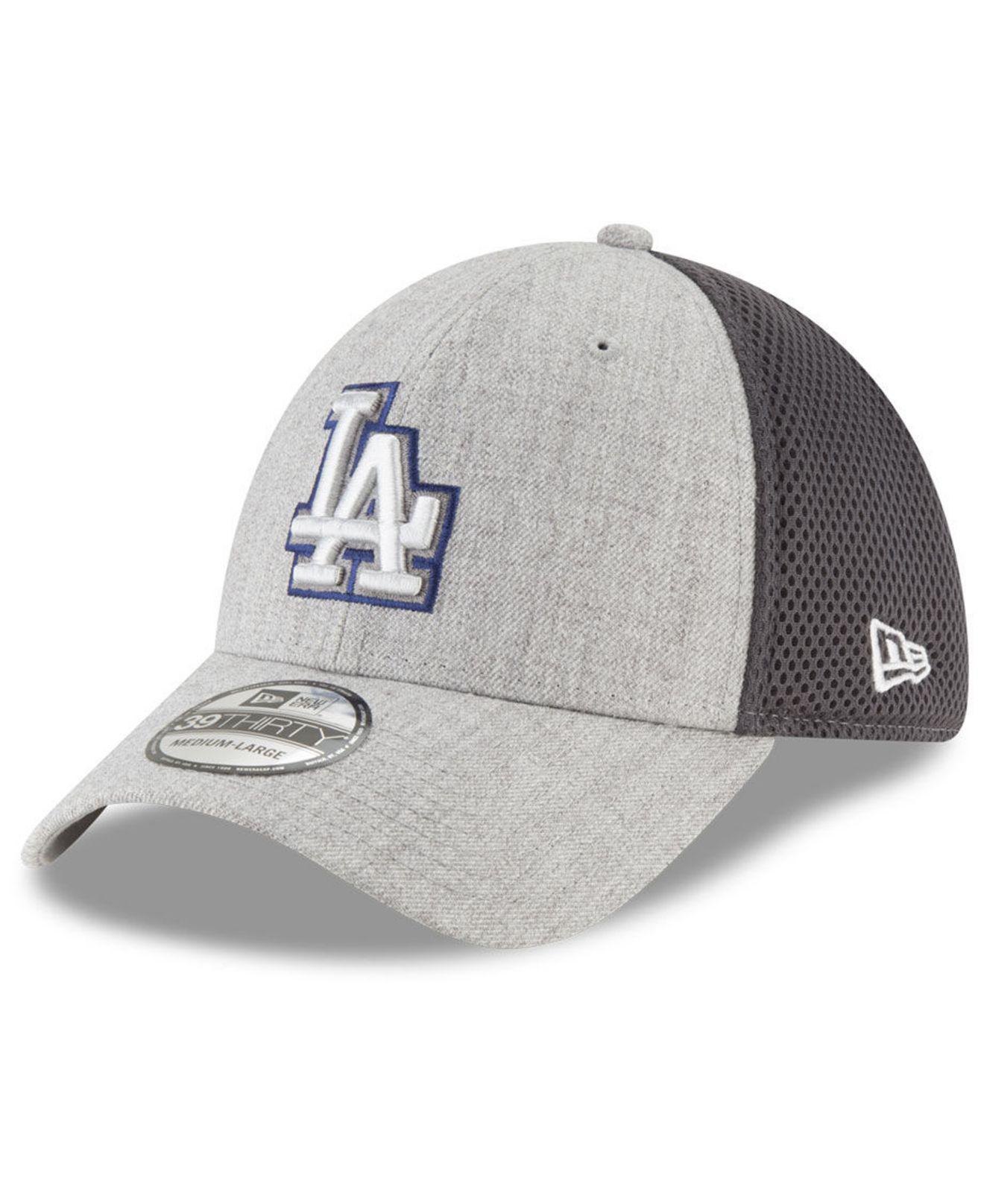 brand new 1f297 7bbd9 KTZ. Men s Gray Los Angeles Dodgers Heather Pop Neo 39thirty Cap