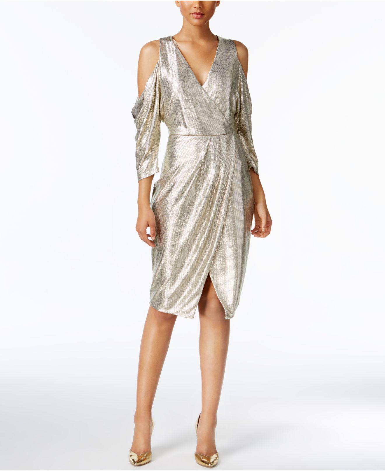a298c13c230dd RACHEL Rachel Roy - Cold-shoulder Metallic Wrap Dress - Lyst. View  fullscreen