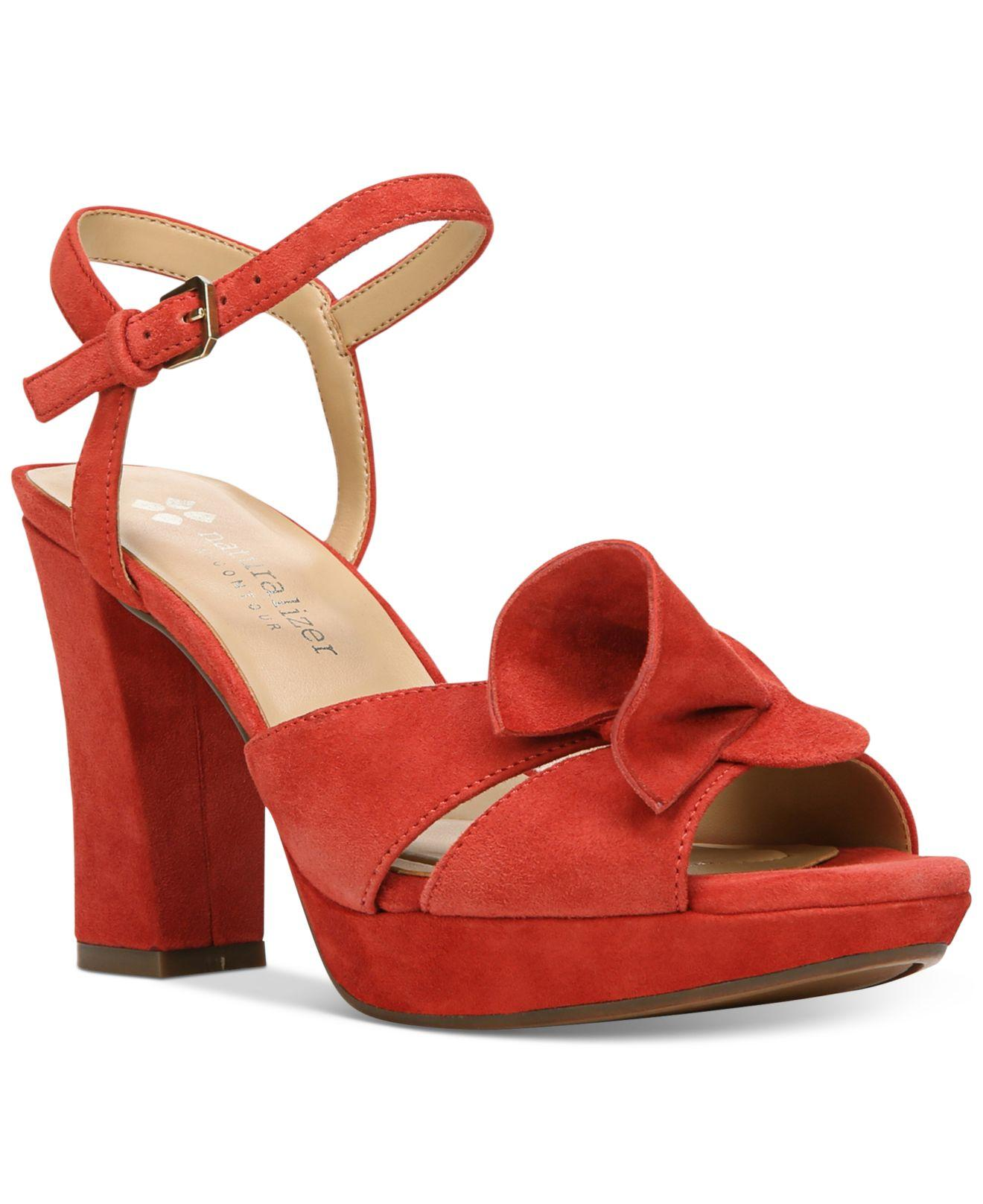 Lyst Naturalizer Adelle Suede Dress Sandals In Red