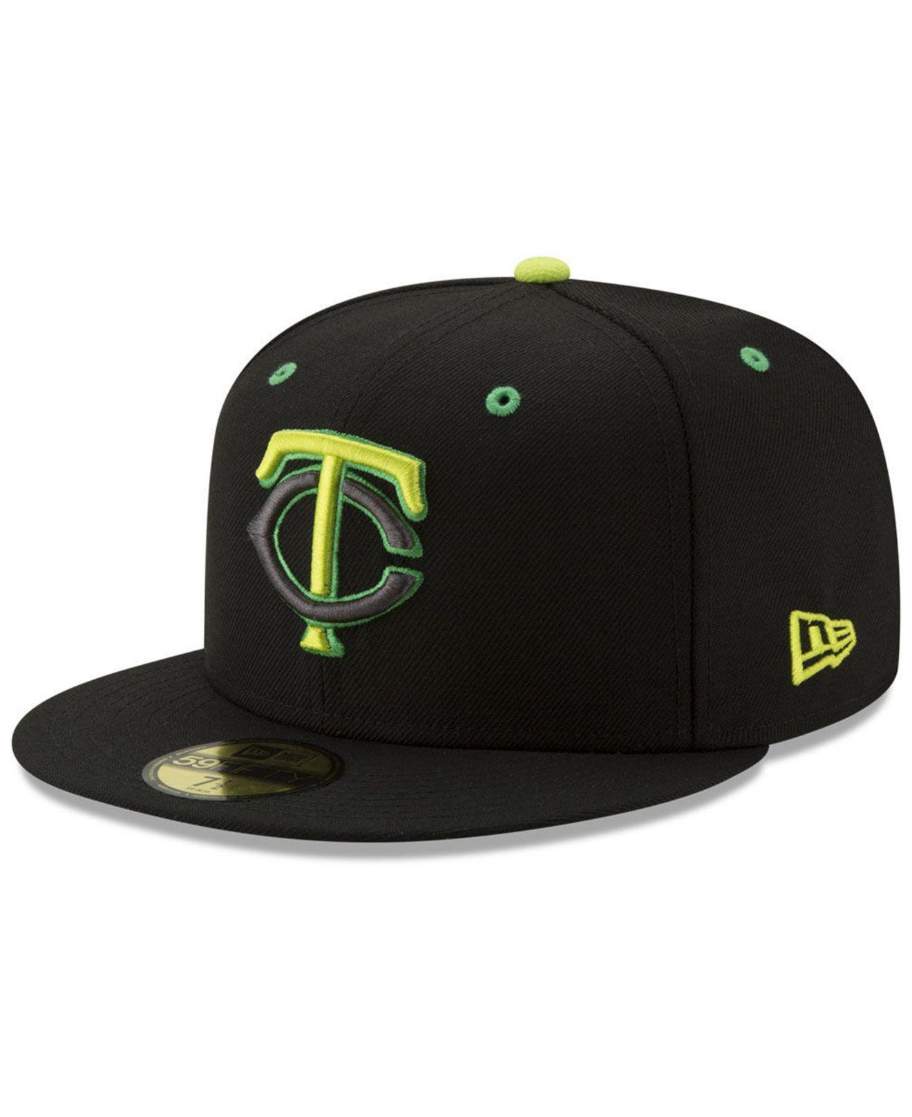 size 40 a5114 217c0 KTZ. Men s Black Minnesota Twins Night Moves 59fifty Fitted Cap
