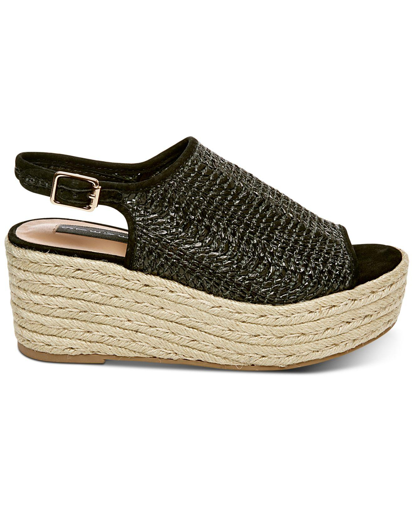 ec125cbd4b0 Lyst - Steven by Steve Madden Courage Espadrille Wedge Sandals in Black -  Save 35%