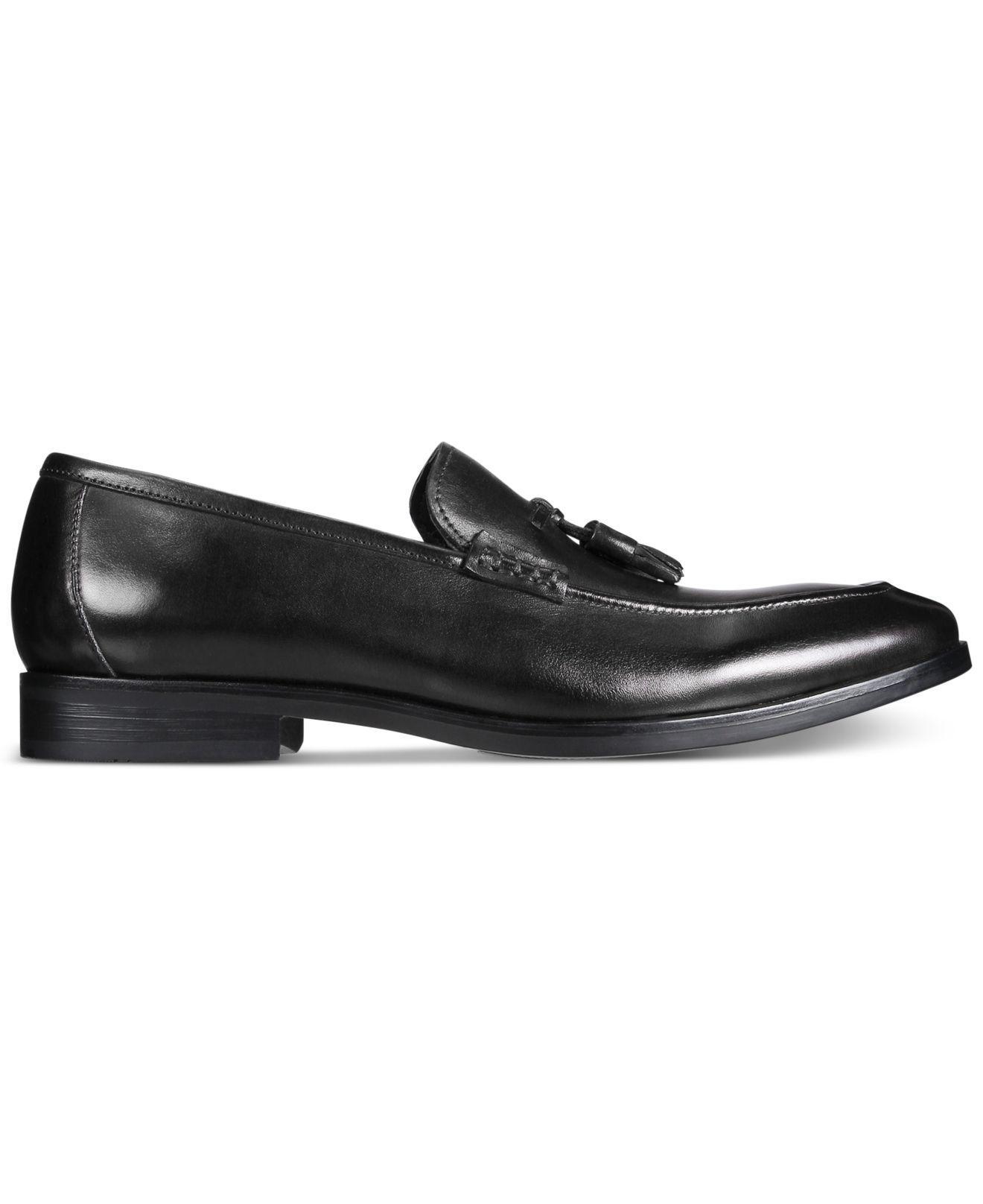 Lyst Alfani Men S Declan Leather Tassel Loafers In Black