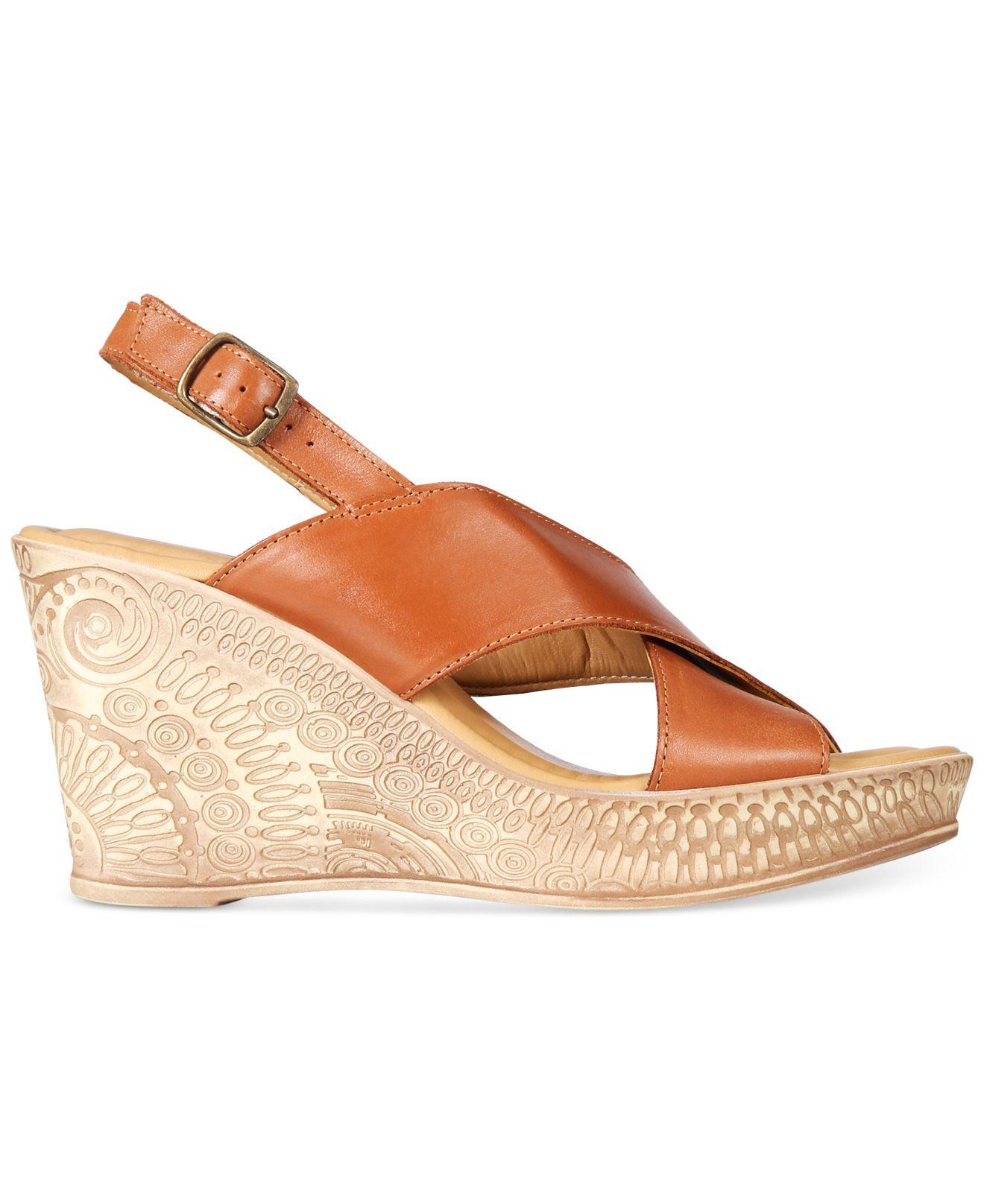 Lyst Bella Vita Lea Italy Wedge Sandals In Brown