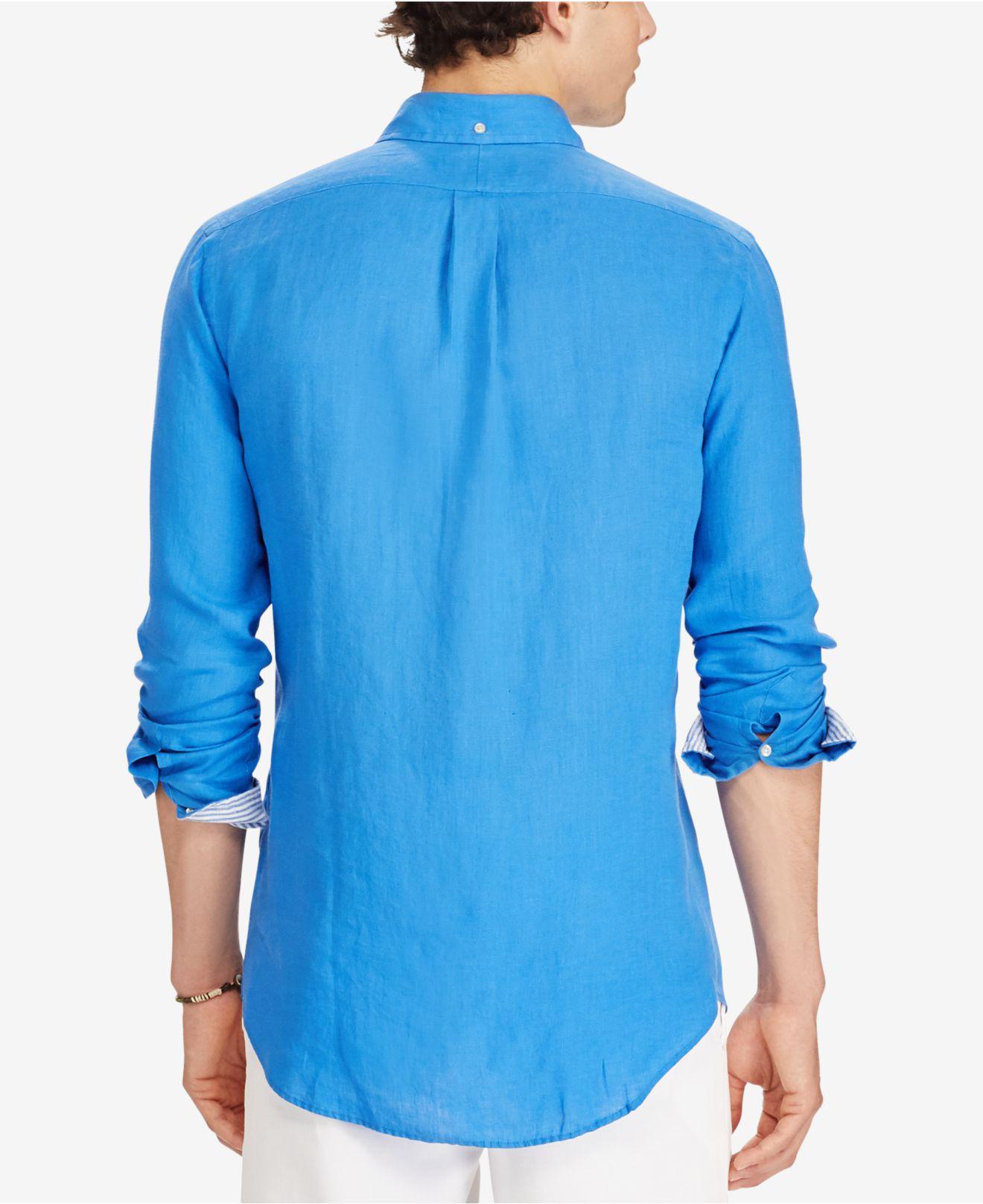 dca584b7 Royal Blue Linen Shirts - DREAMWORKS