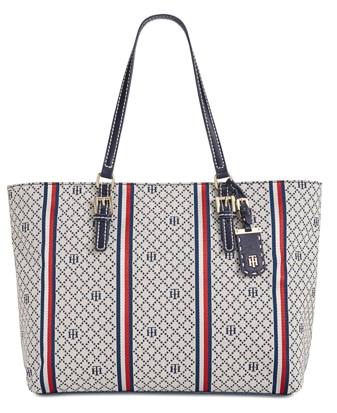 8667d7c32540b Lyst - Tommy Hilfiger Julia Extra-large Tote in Blue