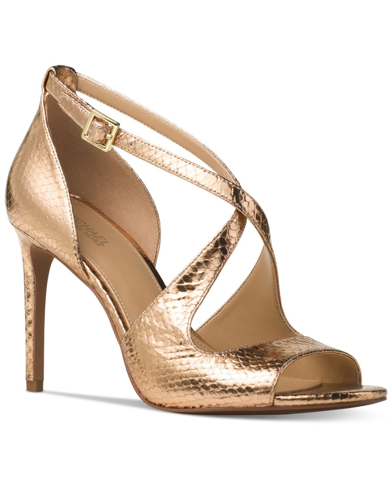 Lyst - Michael Kors Estee Sandals in Metallic